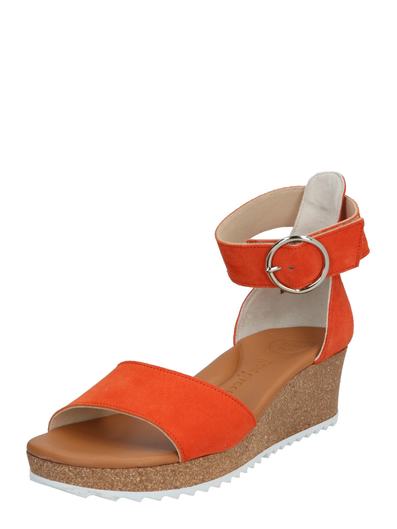 Paul Green Remienkové sandále  oranžová