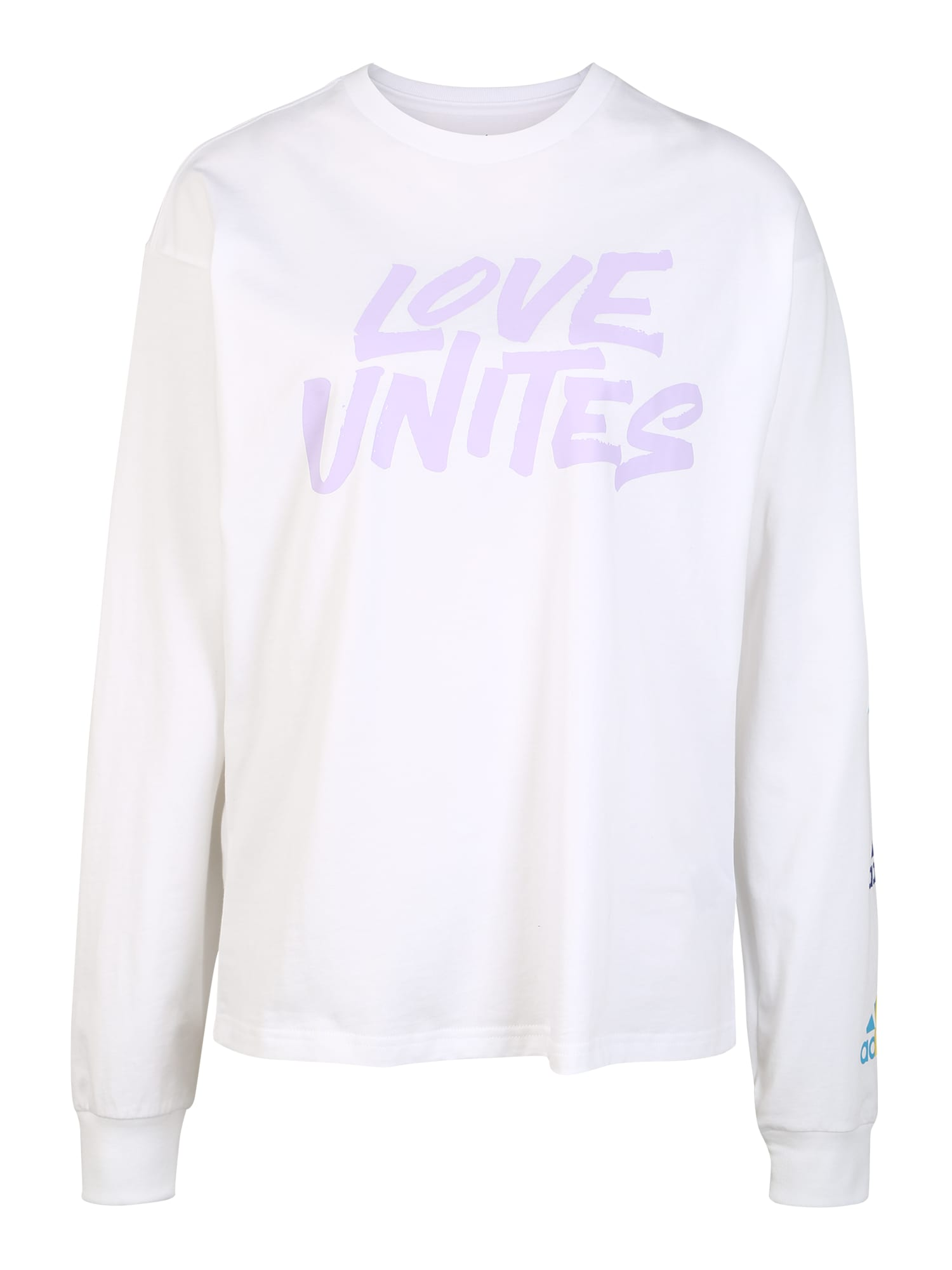 ADIDAS PERFORMANCE Sportinio tipo megztinis alyvinė spalva / balta