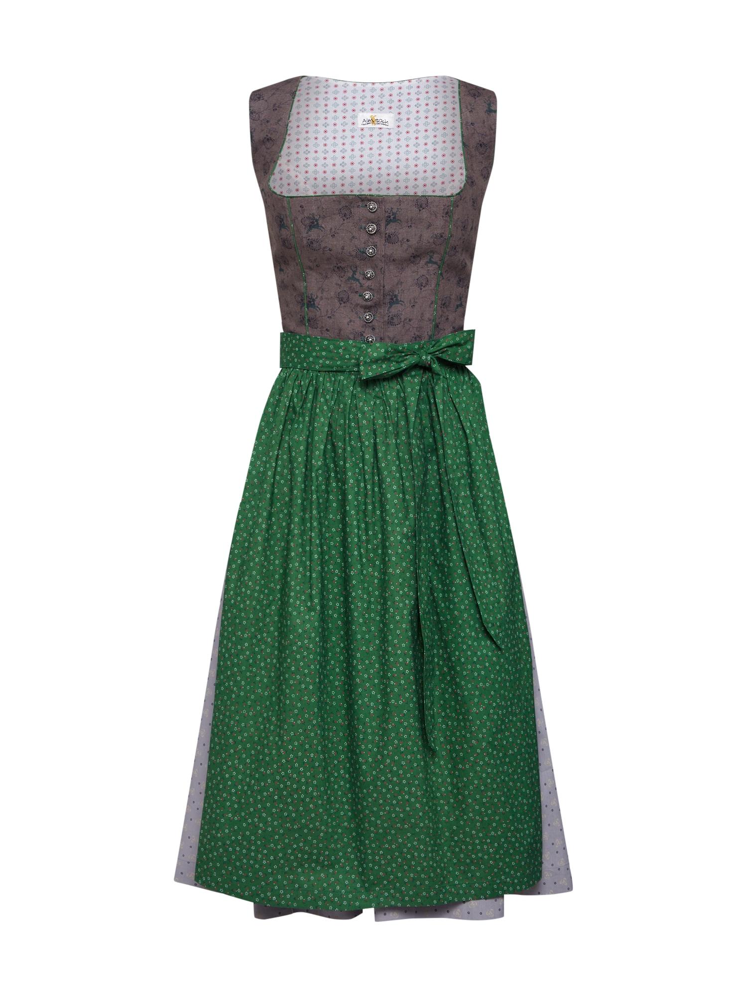 ALMSACH Dirndlis žalia / mišrios spalvos / balta