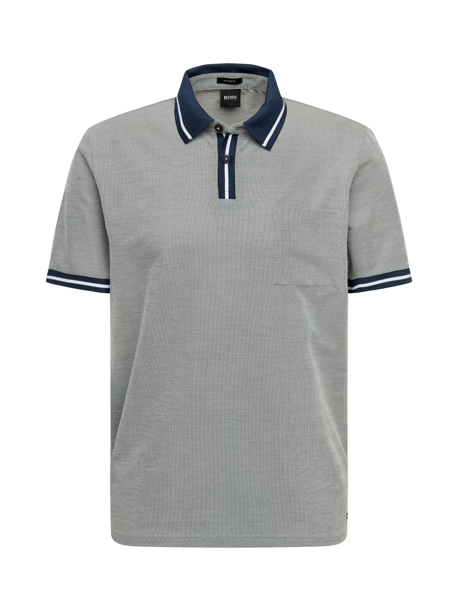 BOSS Marškinėliai 'Pretend' tamsiai mėlyna