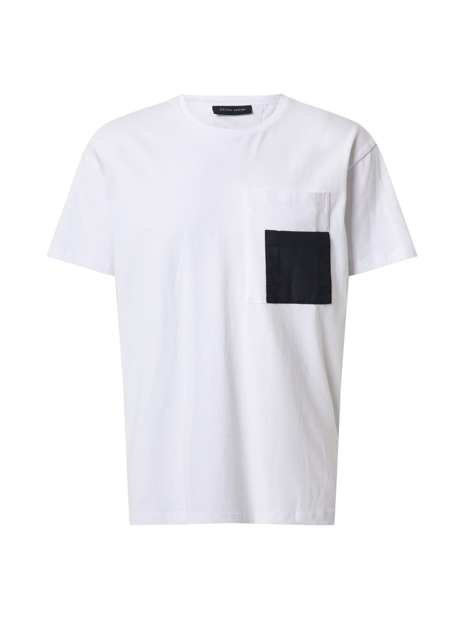 Casual Friday Marškinėliai juoda / balta