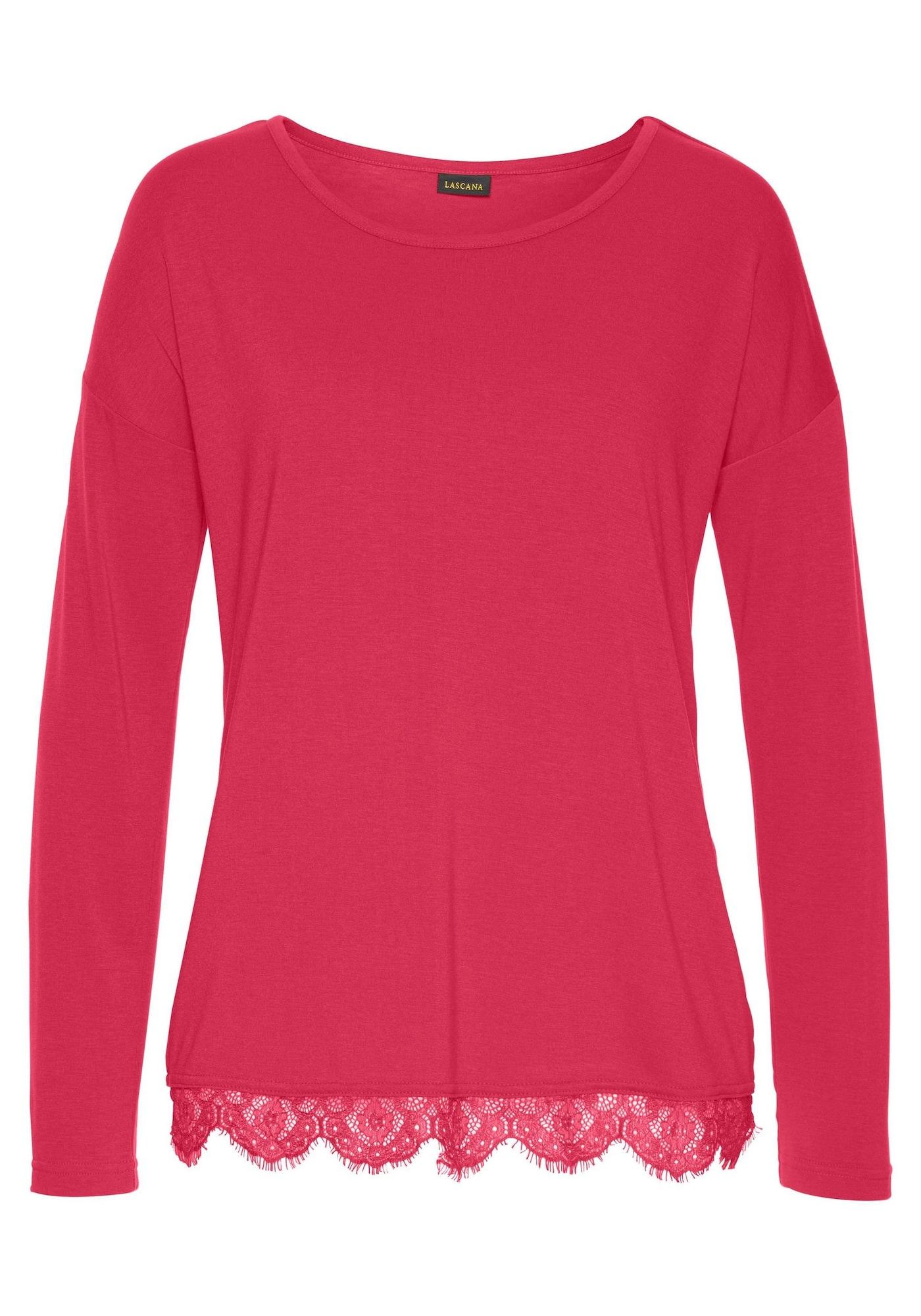 LASCANA Pižaminiai marškinėliai spanguolių spalva