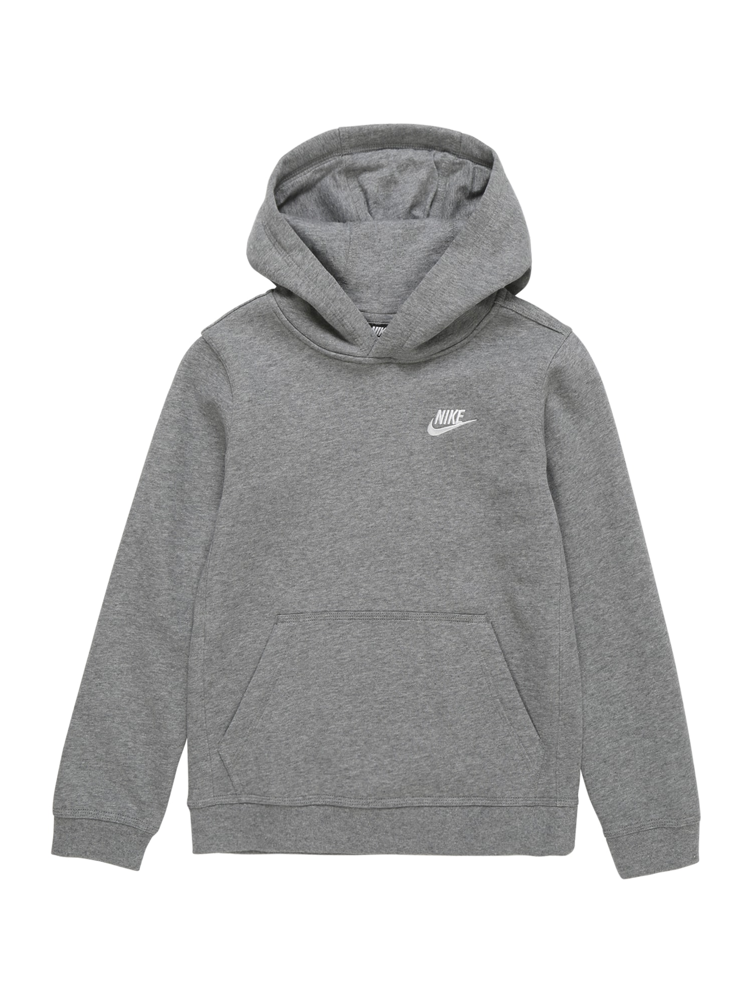 Nike Sportswear Megztinis be užsegimo balta / pilka