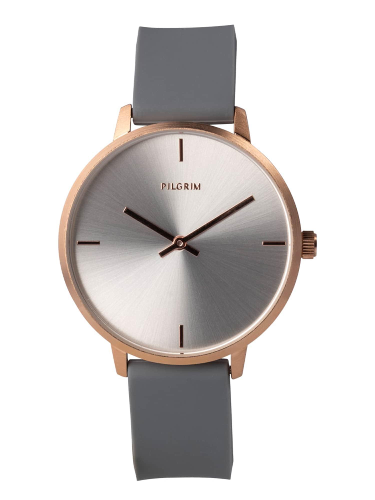 Pilgrim Analoginis (įprastinio dizaino) laikrodis 'Inez' auksas / pilka