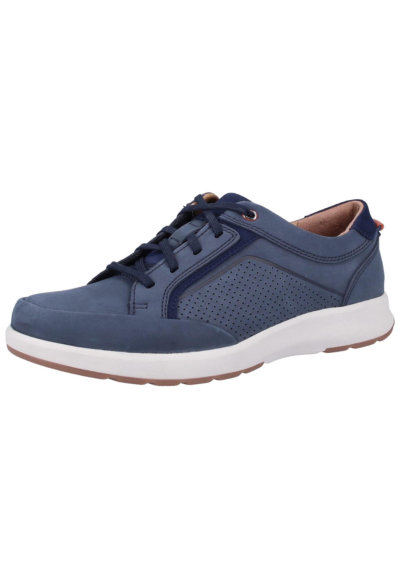 CLARKS Sportinio stiliaus batai su raišteliais tamsiai mėlyna / melsvai pilka