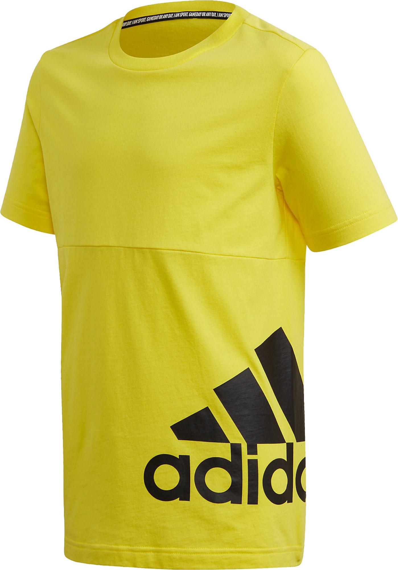ADIDAS PERFORMANCE Funkčné tričko  žltá / čierna