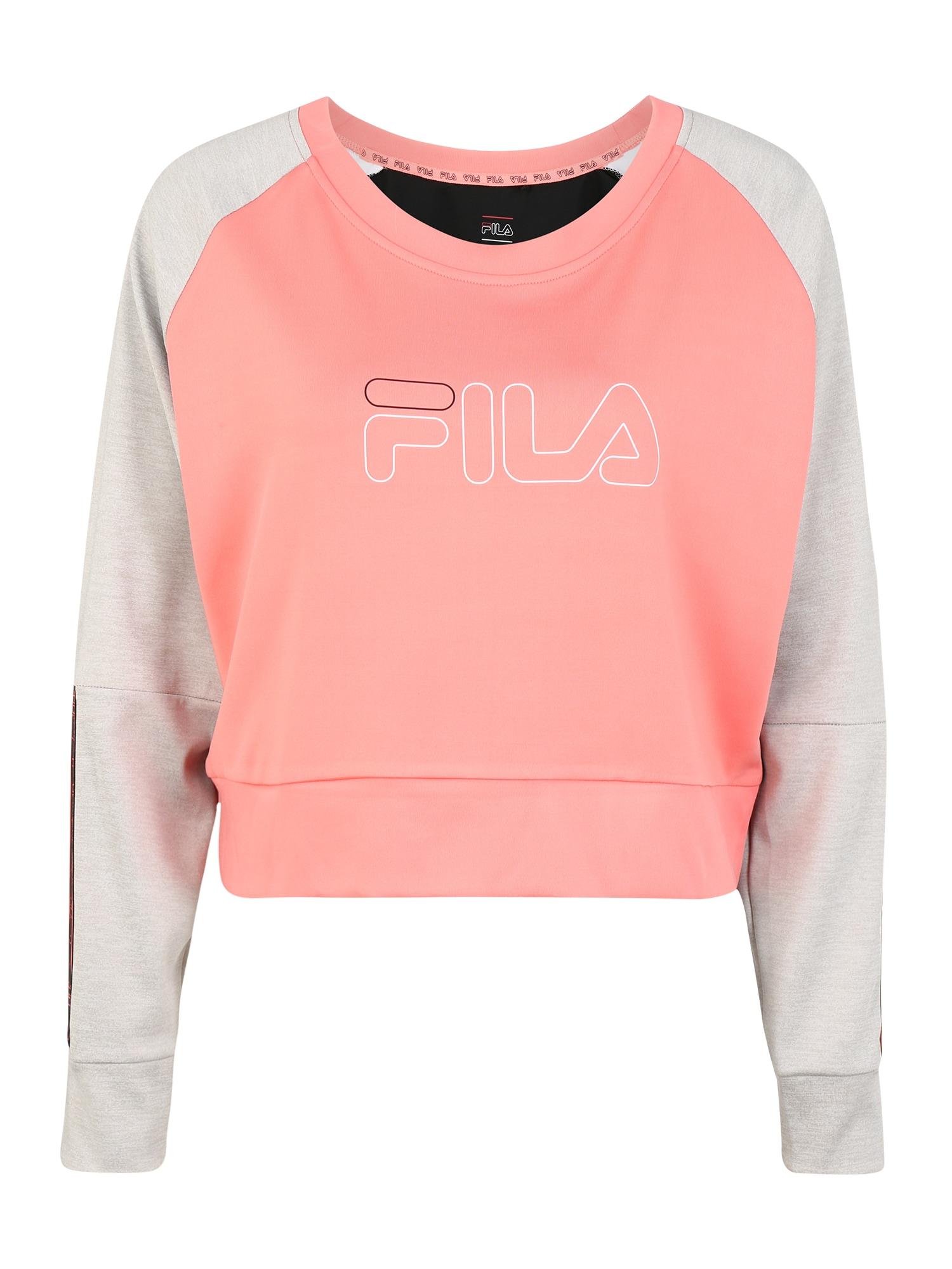 FILA Sportinio tipo megztinis 'AHUVA' pilka / balta / rožinė