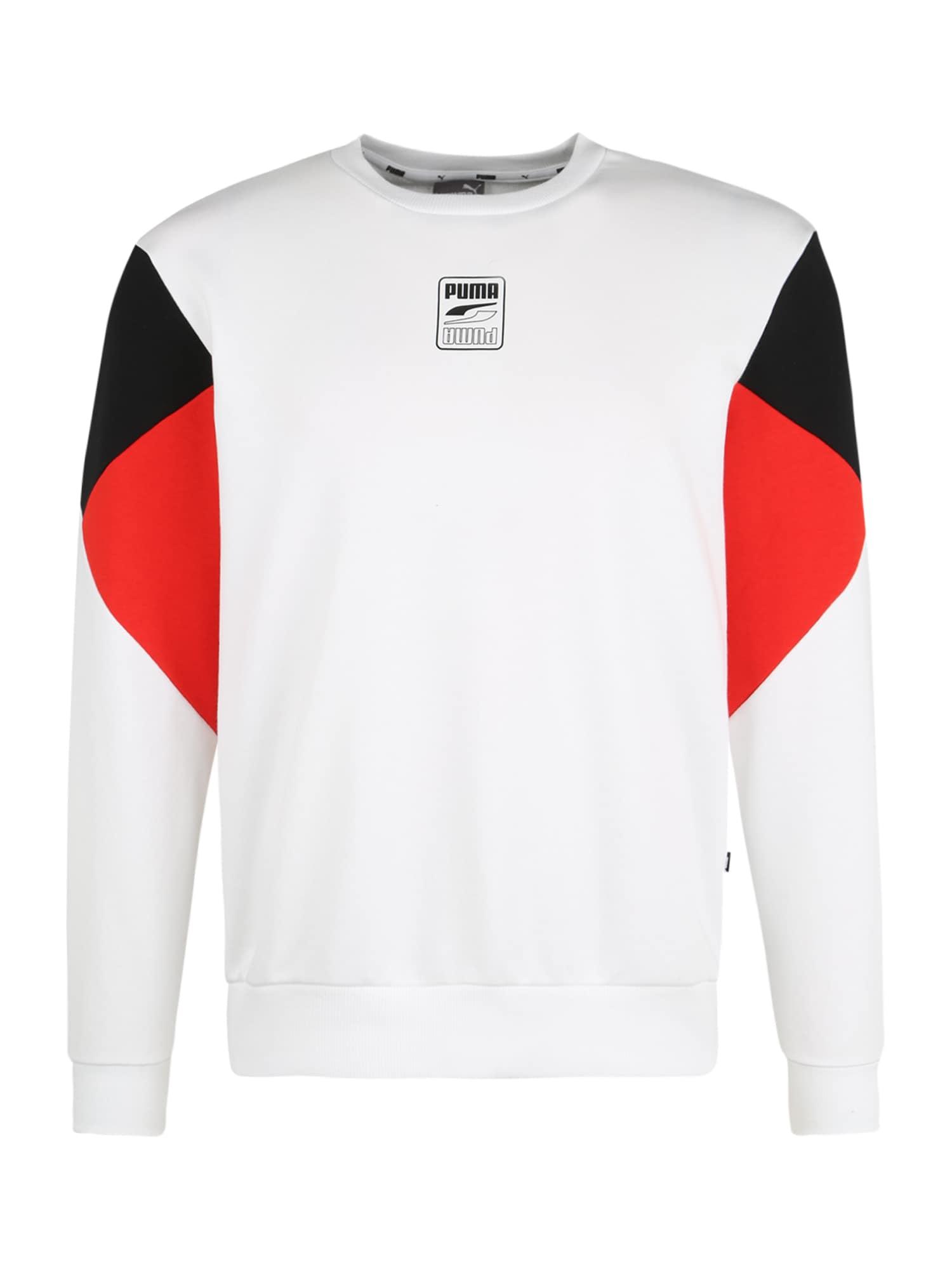 PUMA Športová mikina  červená / biela / čierna