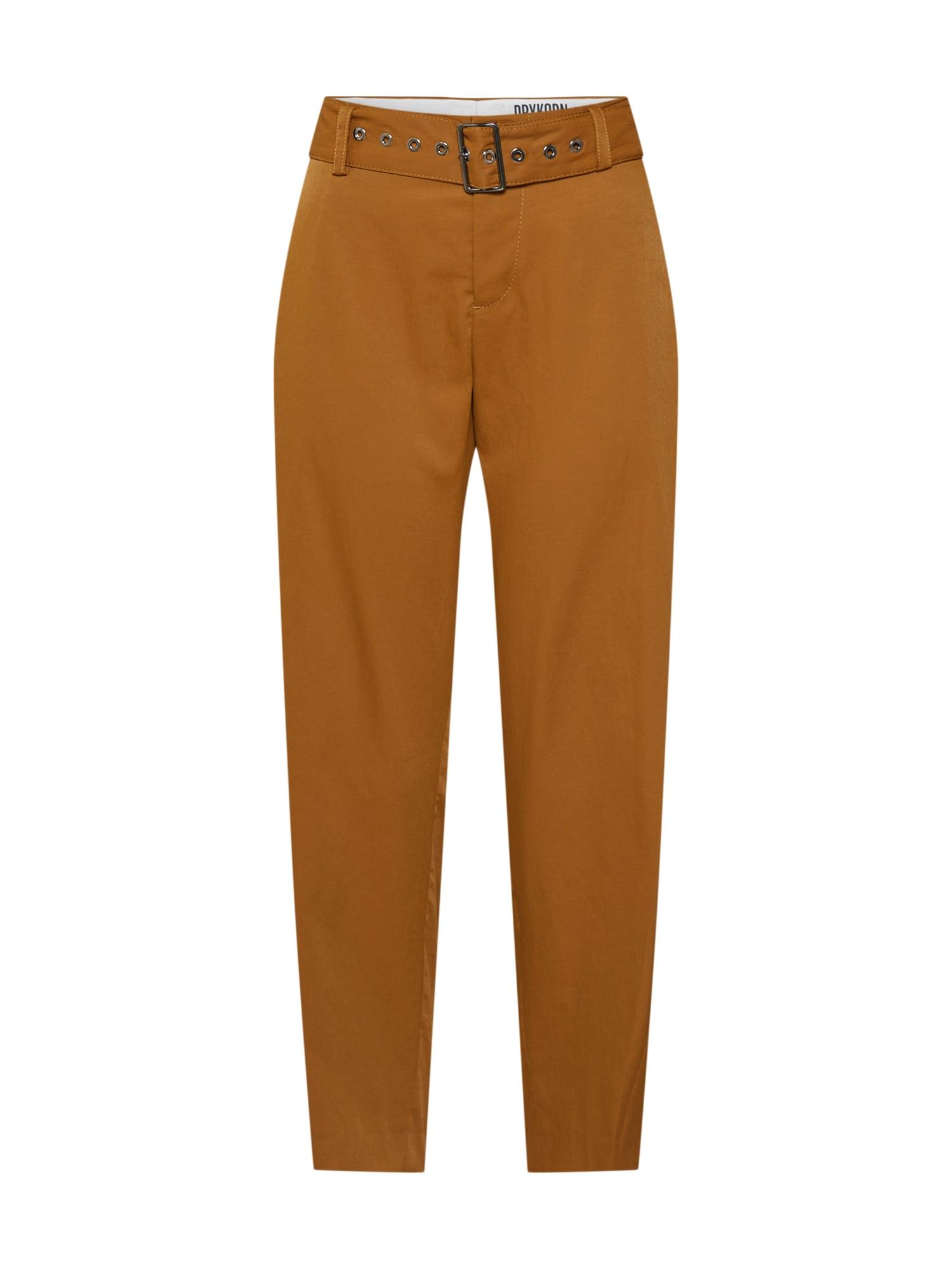 DRYKORN Chino stiliaus kelnės 'GENTLY' garstyčių spalva