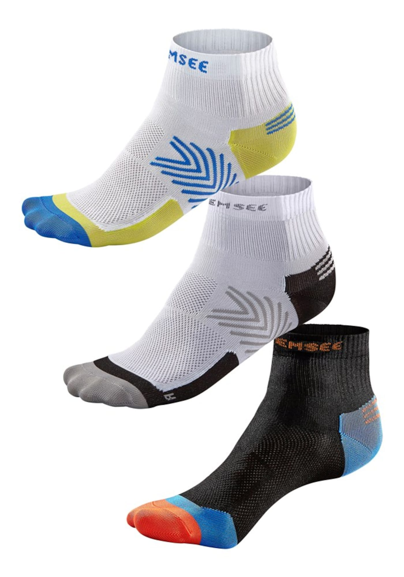 CHIEMSEE Sportinės kojinės mėlyna / oranžinė / juoda / balta
