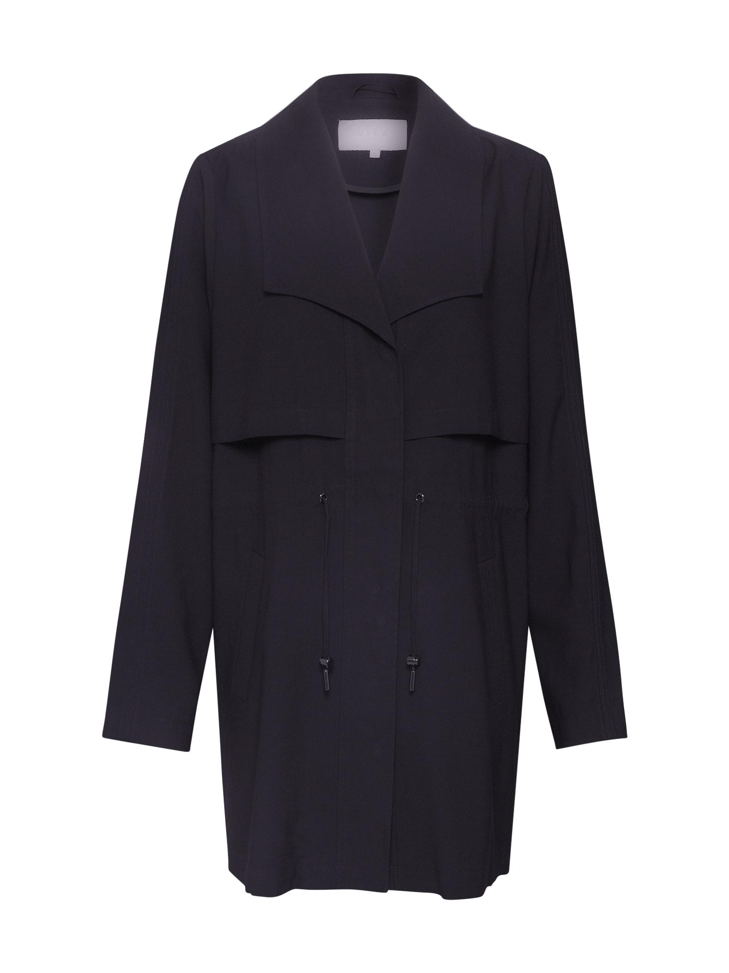 VILA Letný kabát 'Vianina'  čierna