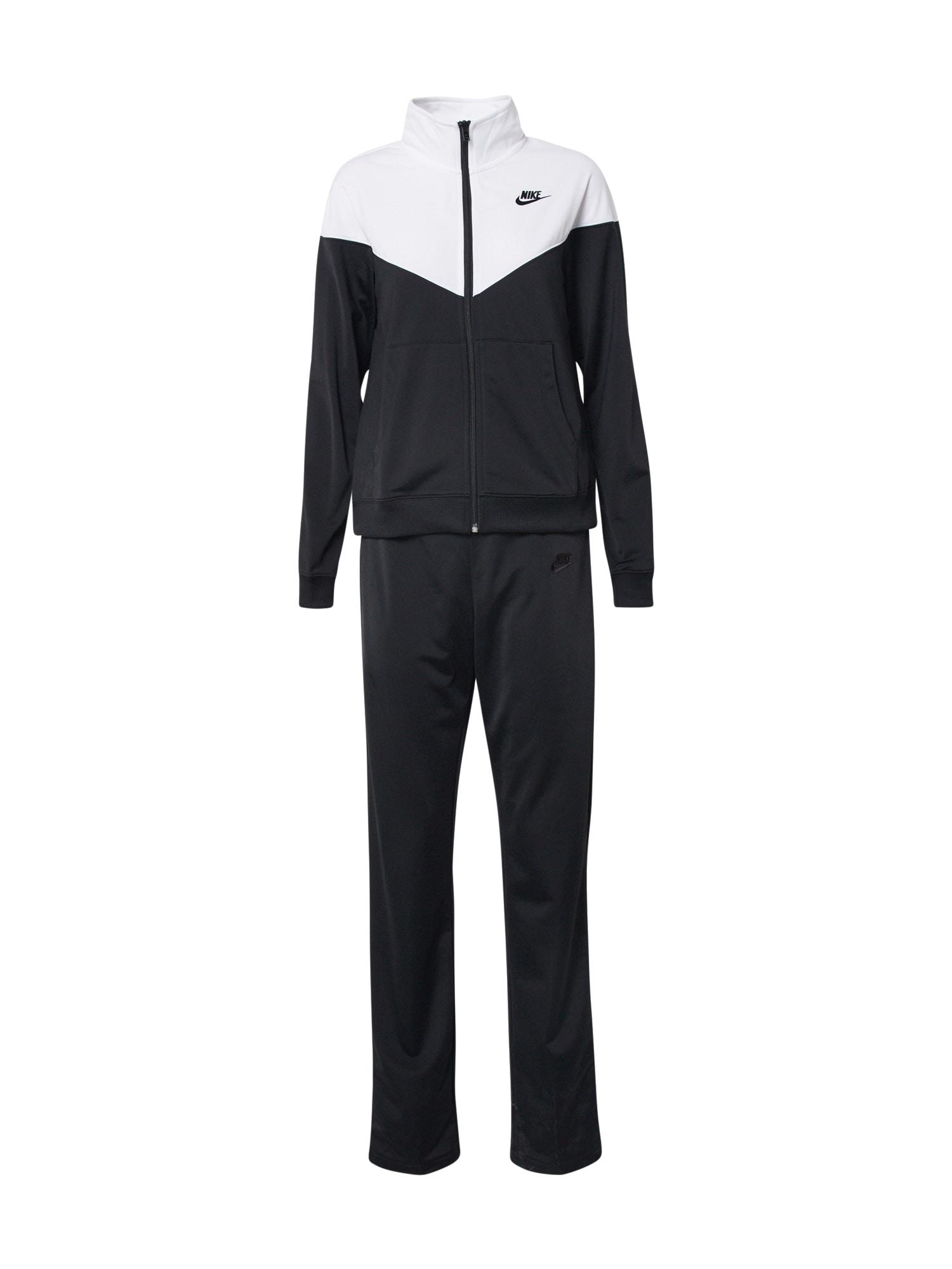 Nike Sportswear Treningas balta / juoda