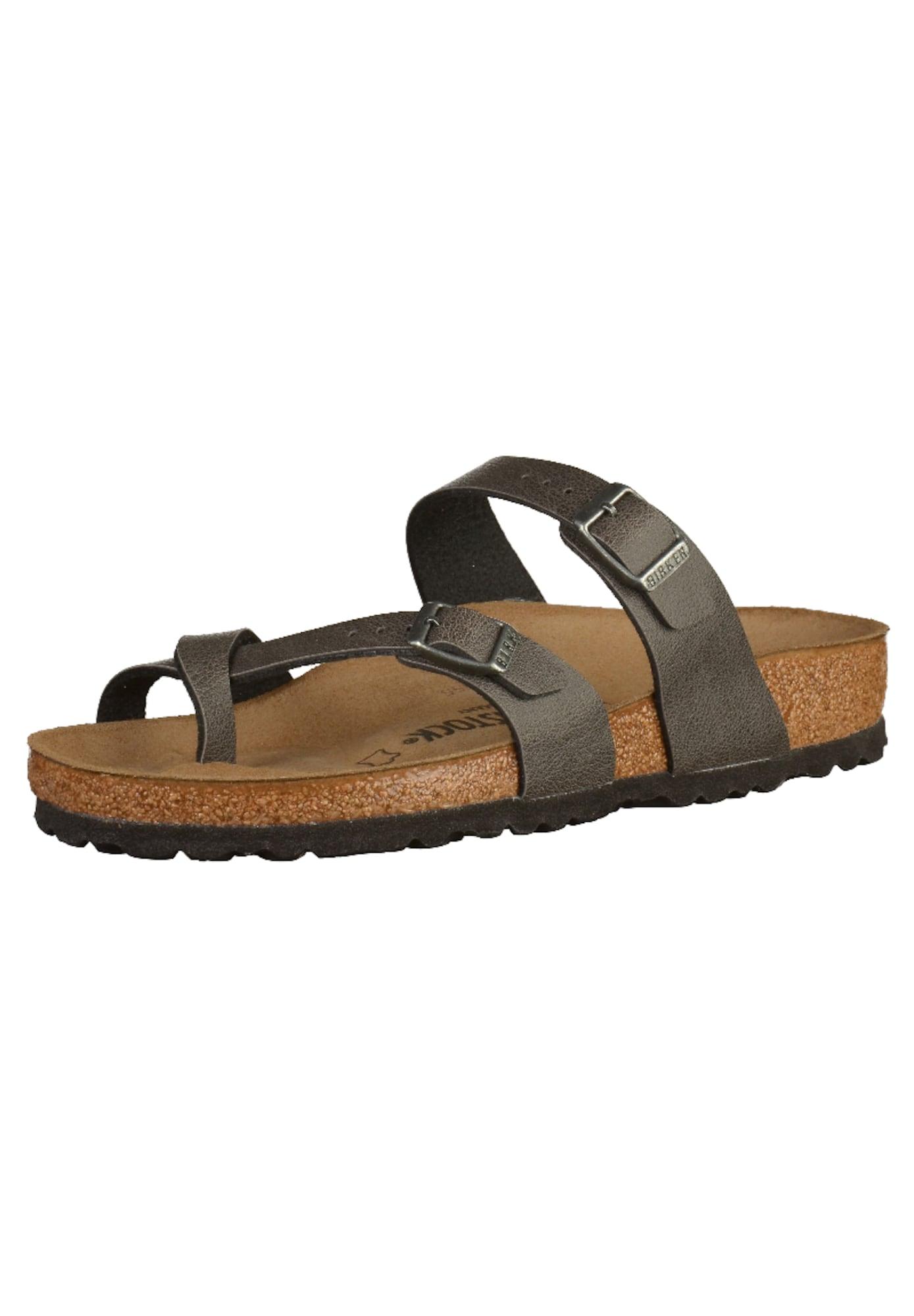 BIRKENSTOCK Pantofle 'Mayari'  tmavě šedá