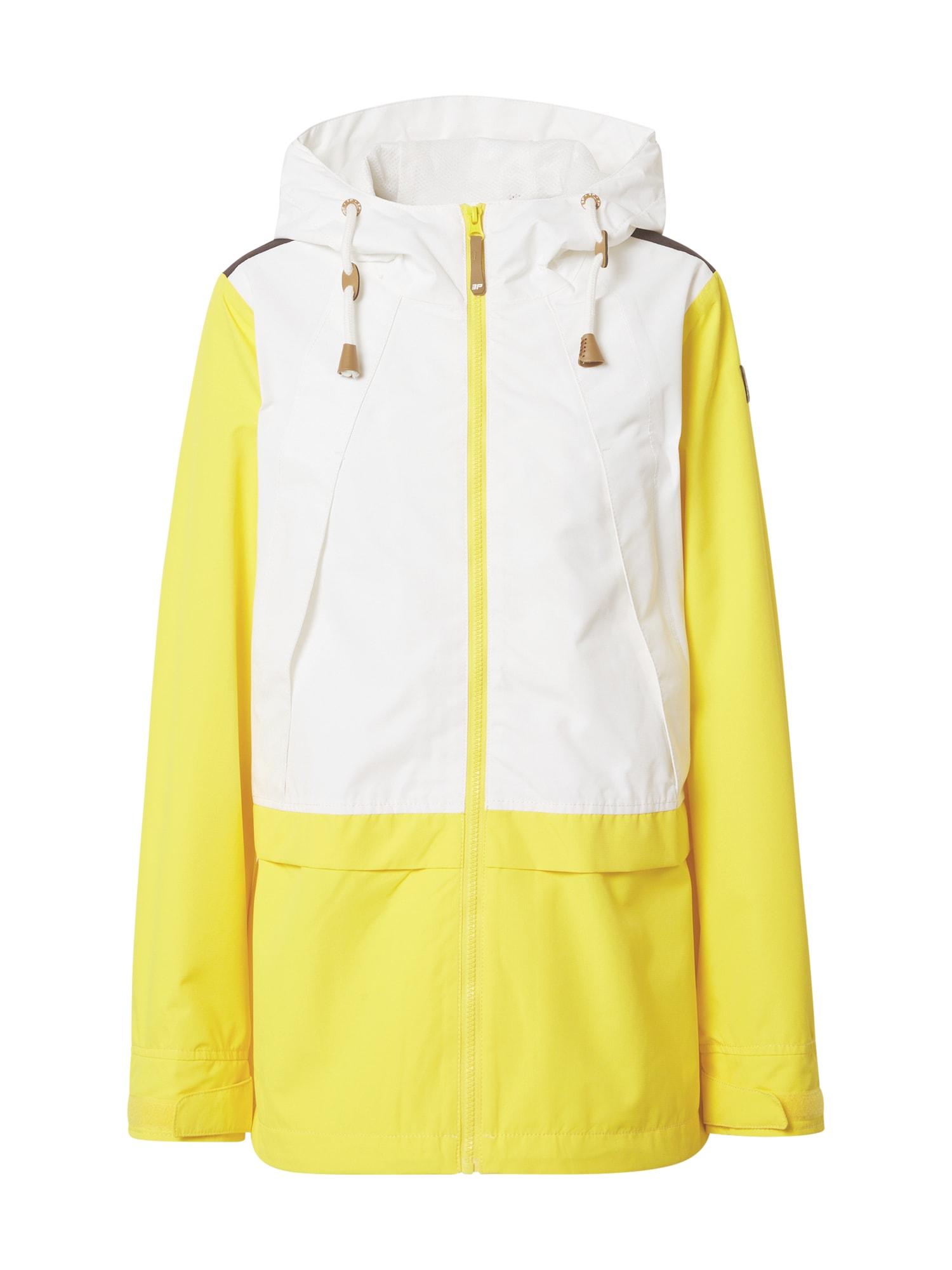 ICEPEAK Športová bunda 'EP ACERRA'  biela / žltá / čierna