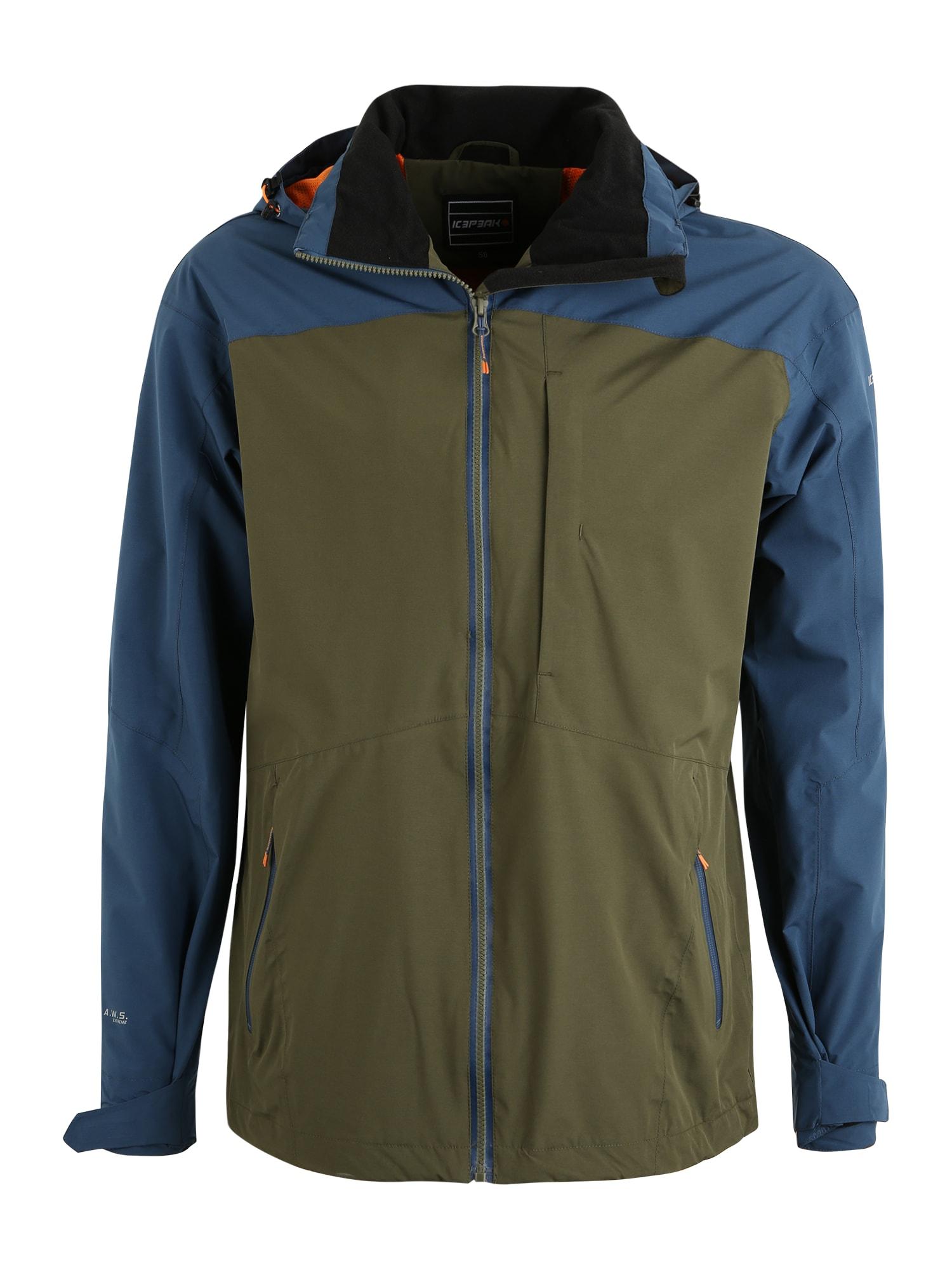 ICEPEAK Sportinė striukė 'BANTRY' tamsiai mėlyna / alyvuogių spalva
