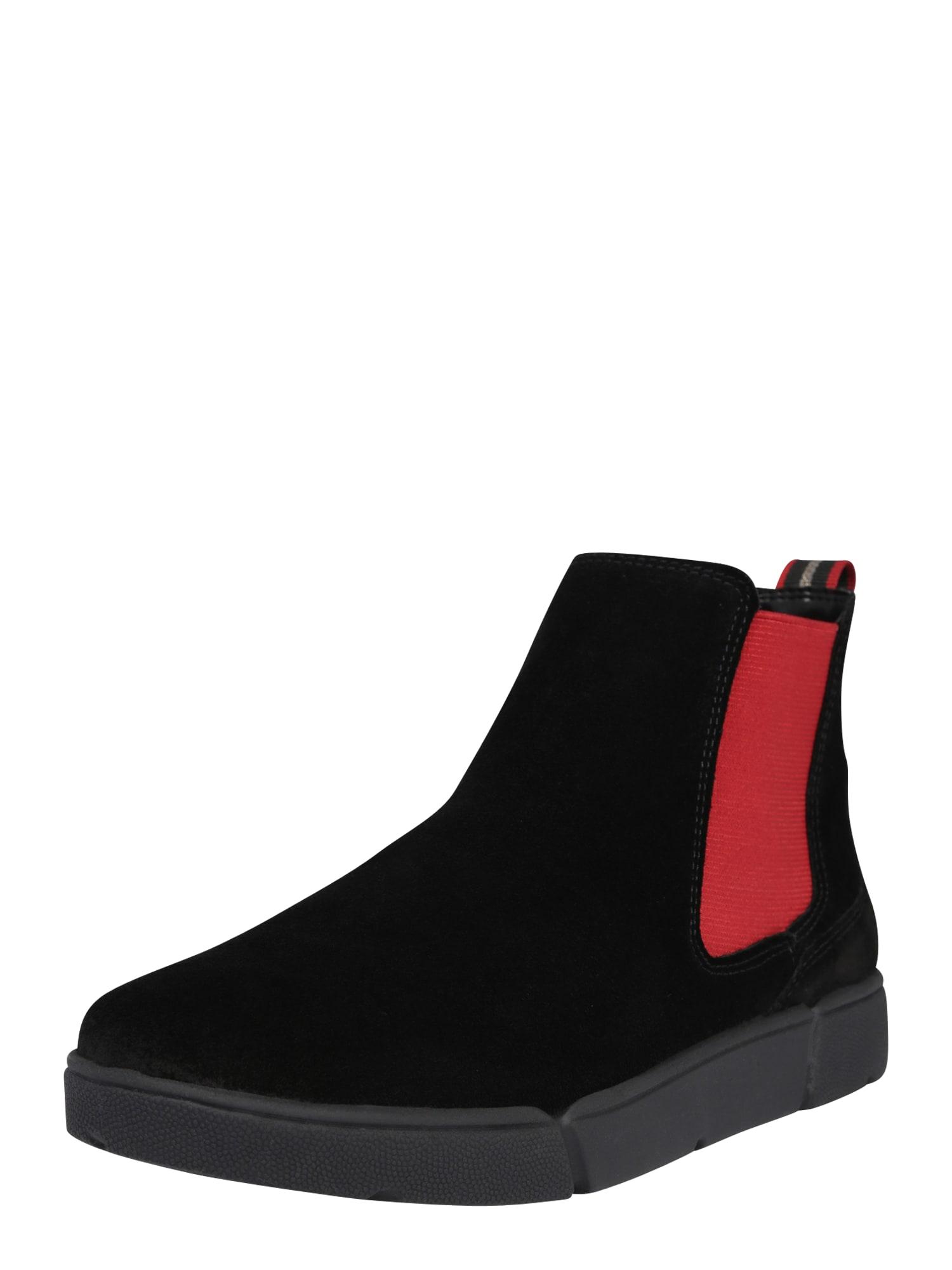 ARA Chelsea boty 'Rom'  černá / červená