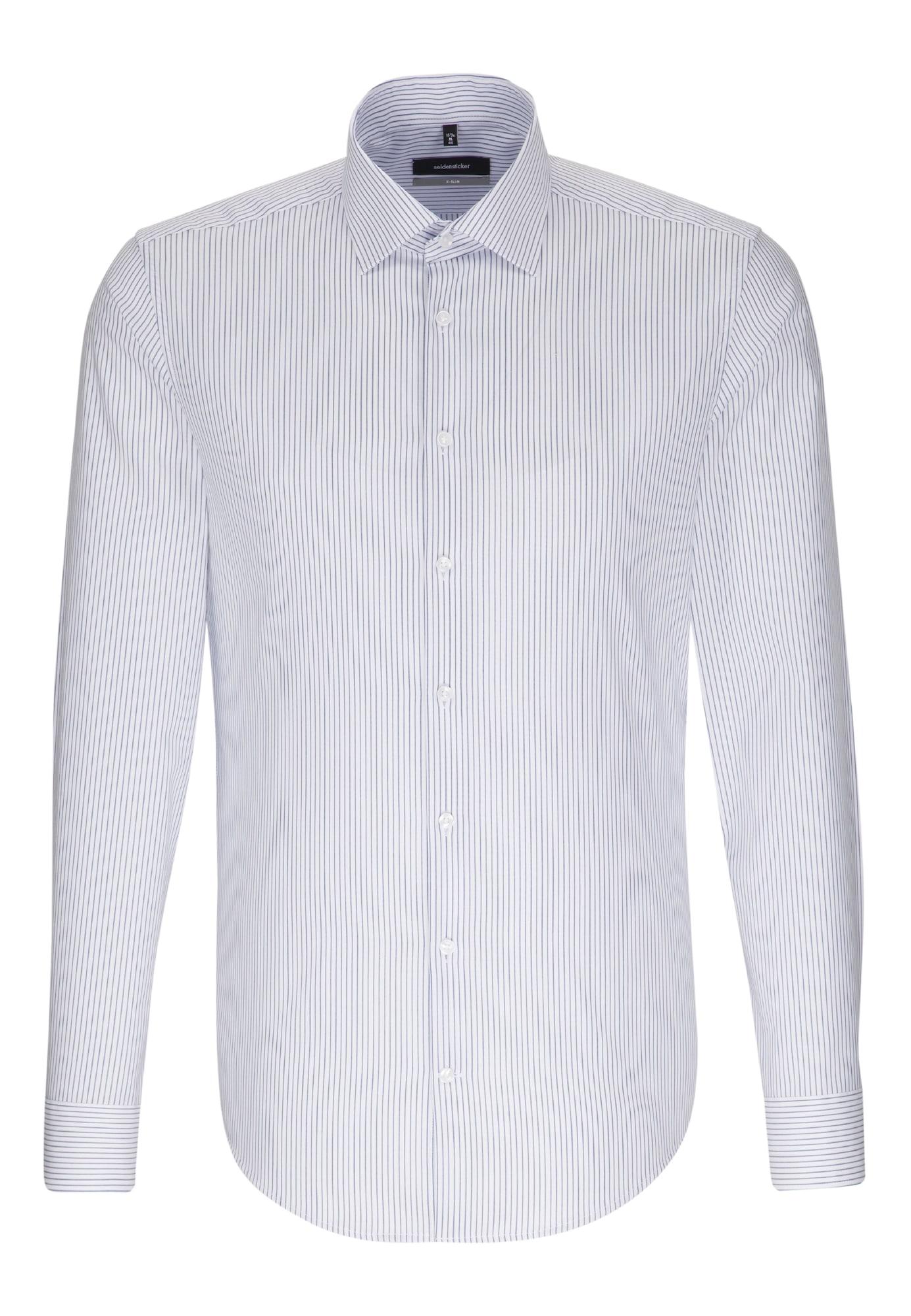SEIDENSTICKER Herren Business Hemd X-Slim blau,weiß | 04048869456930