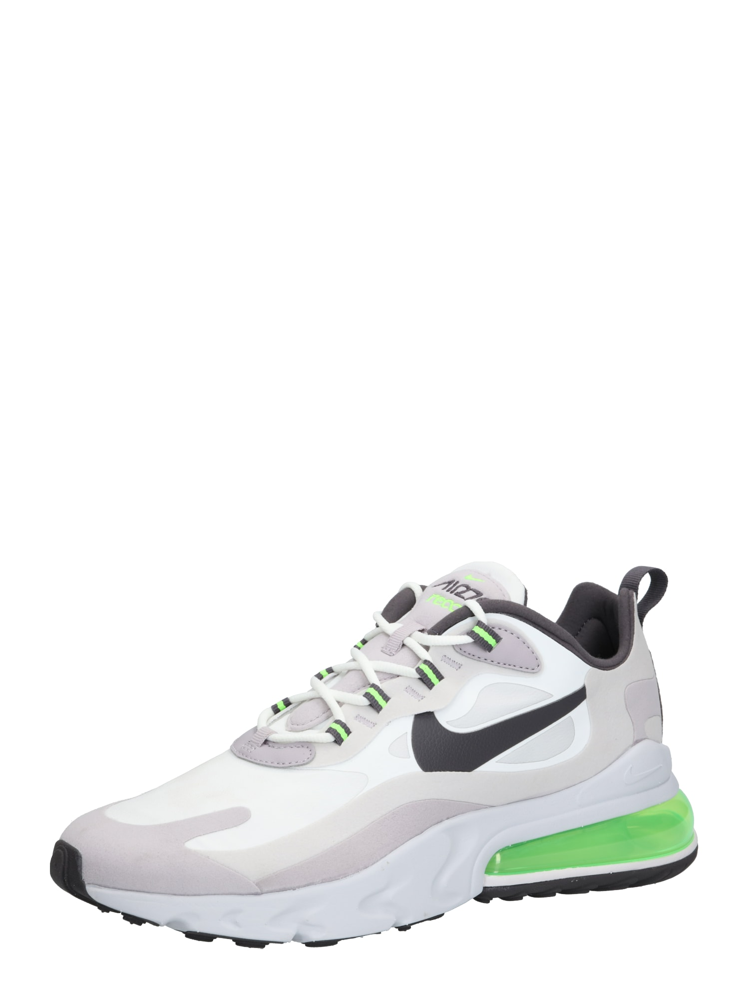Nike Sportswear Sportbačiai be auliuko 'Air Max 270 React' žalia / pilka / balkšva
