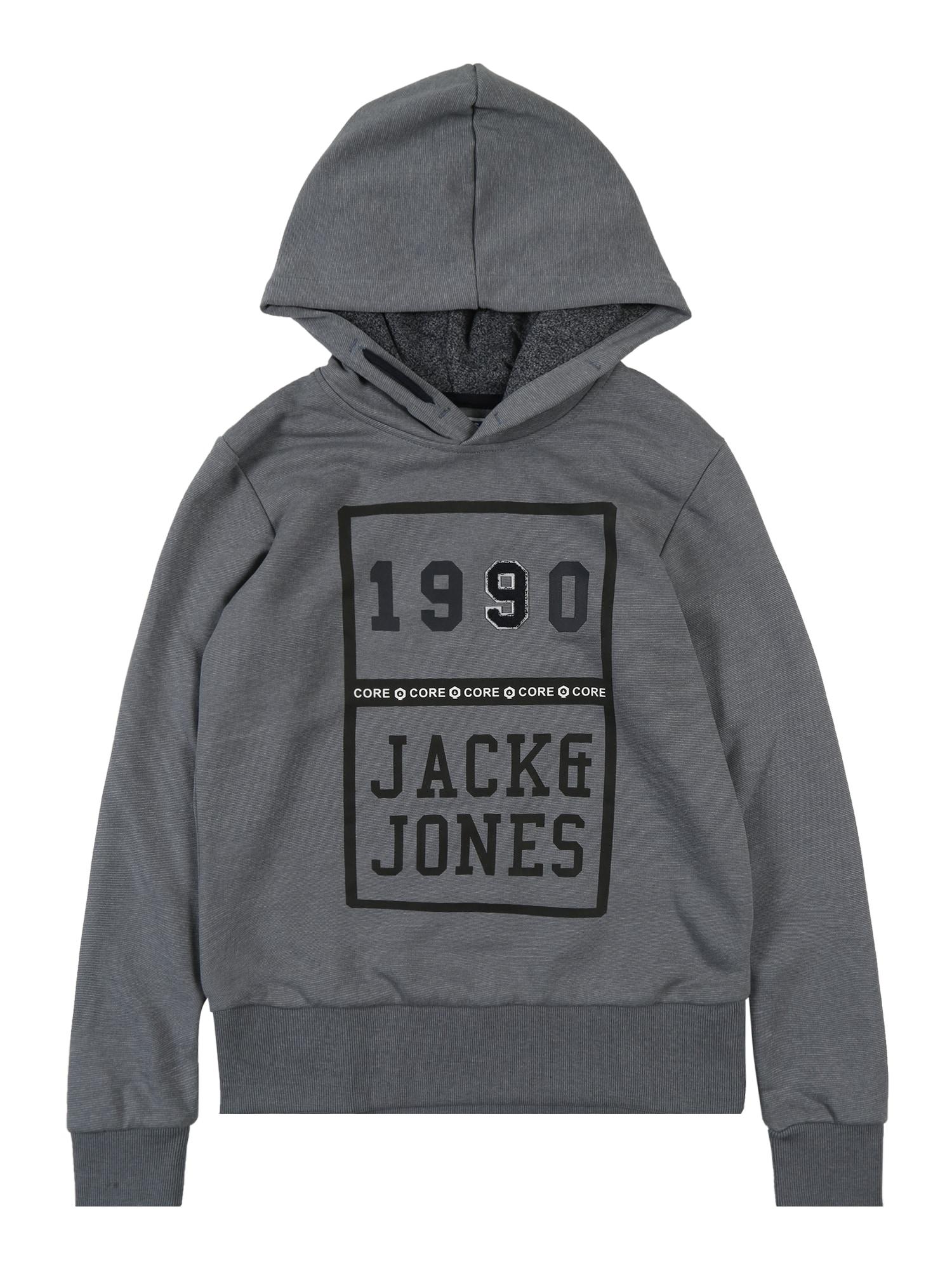 Jack & Jones Junior Mikina  tmavosivá
