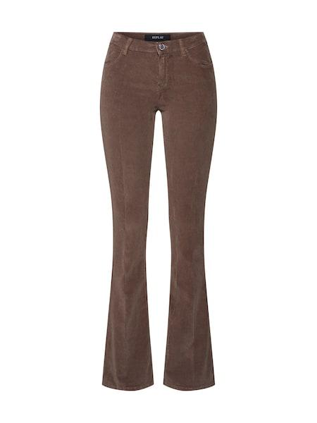 Hosen für Frauen - Jeans 'STELLA FLARE' › Replay › braun  - Onlineshop ABOUT YOU