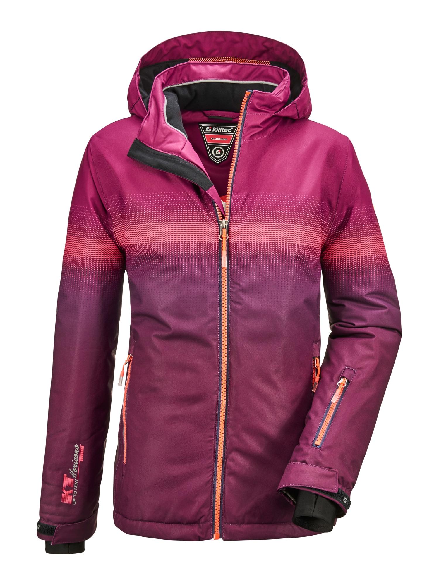 KILLTEC Laisvalaikio striukė 'Glenshee' slyvų spalva / rožinė / tamsiai rožinė