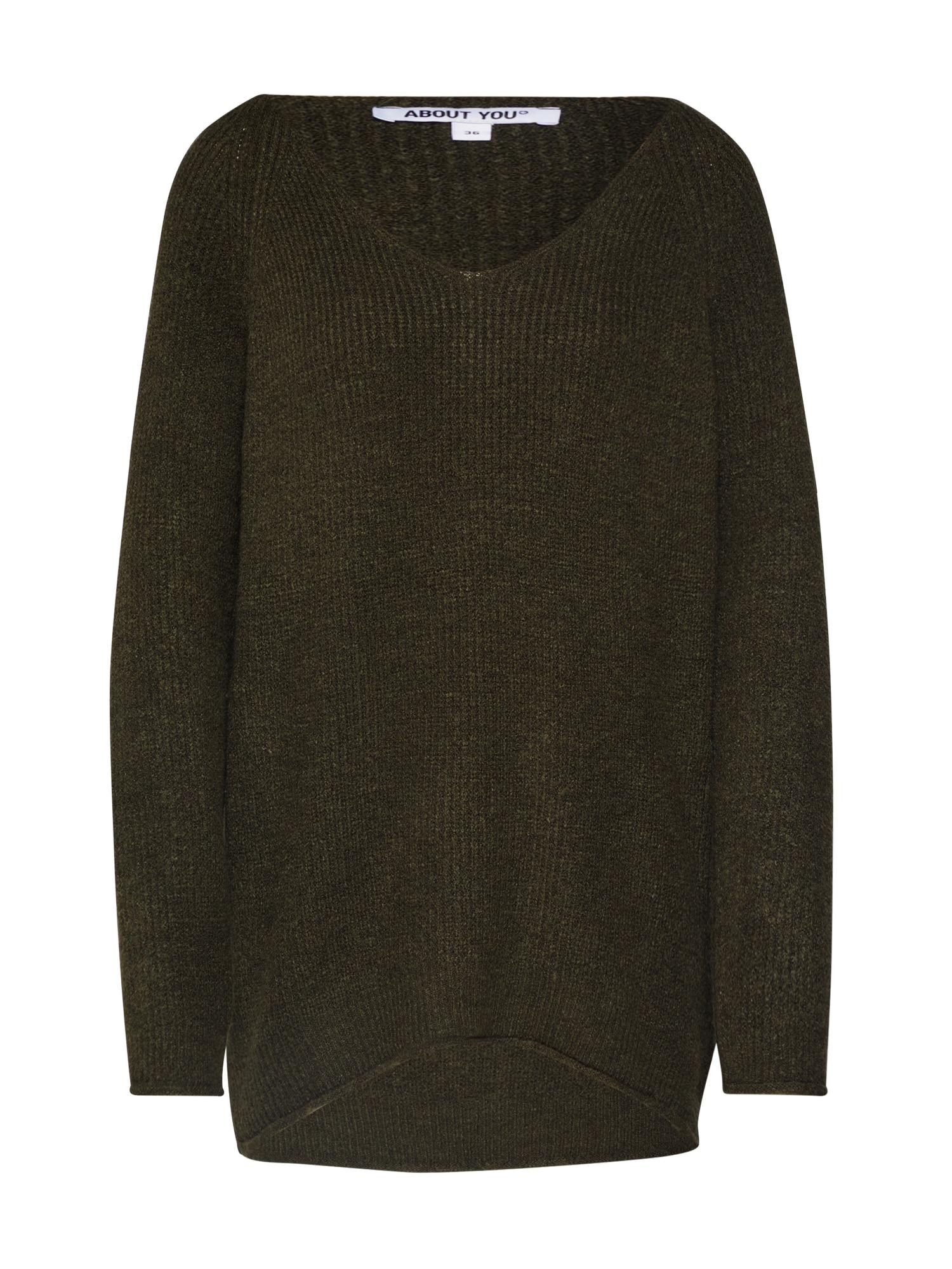ABOUT YOU Megztinis 'Laren' tamsiai žalia