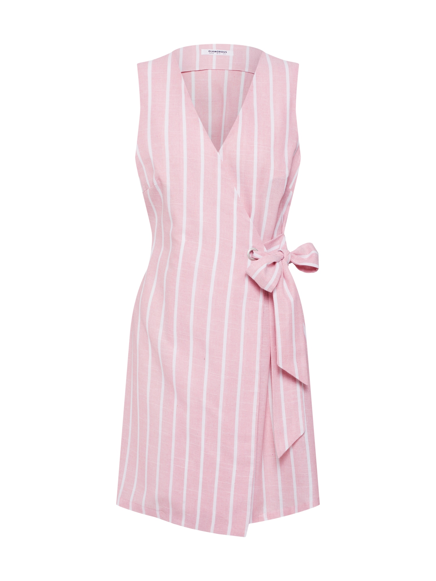 Letní šaty EA0104 pink bílá GLAMOROUS