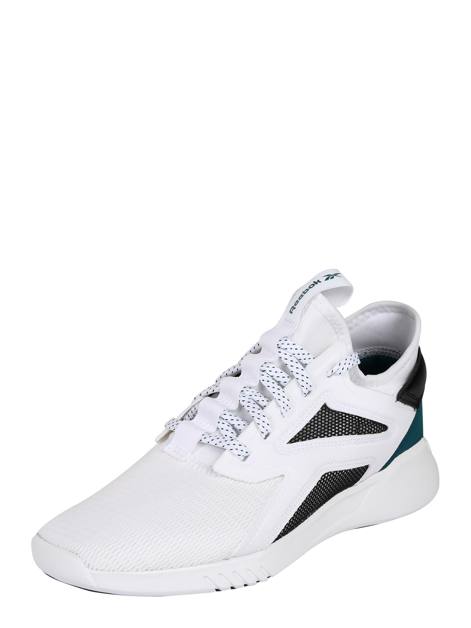 REEBOK Sportiniai batai 'FREESTYLE MOTION LO' juoda / balta / smaragdinė spalva