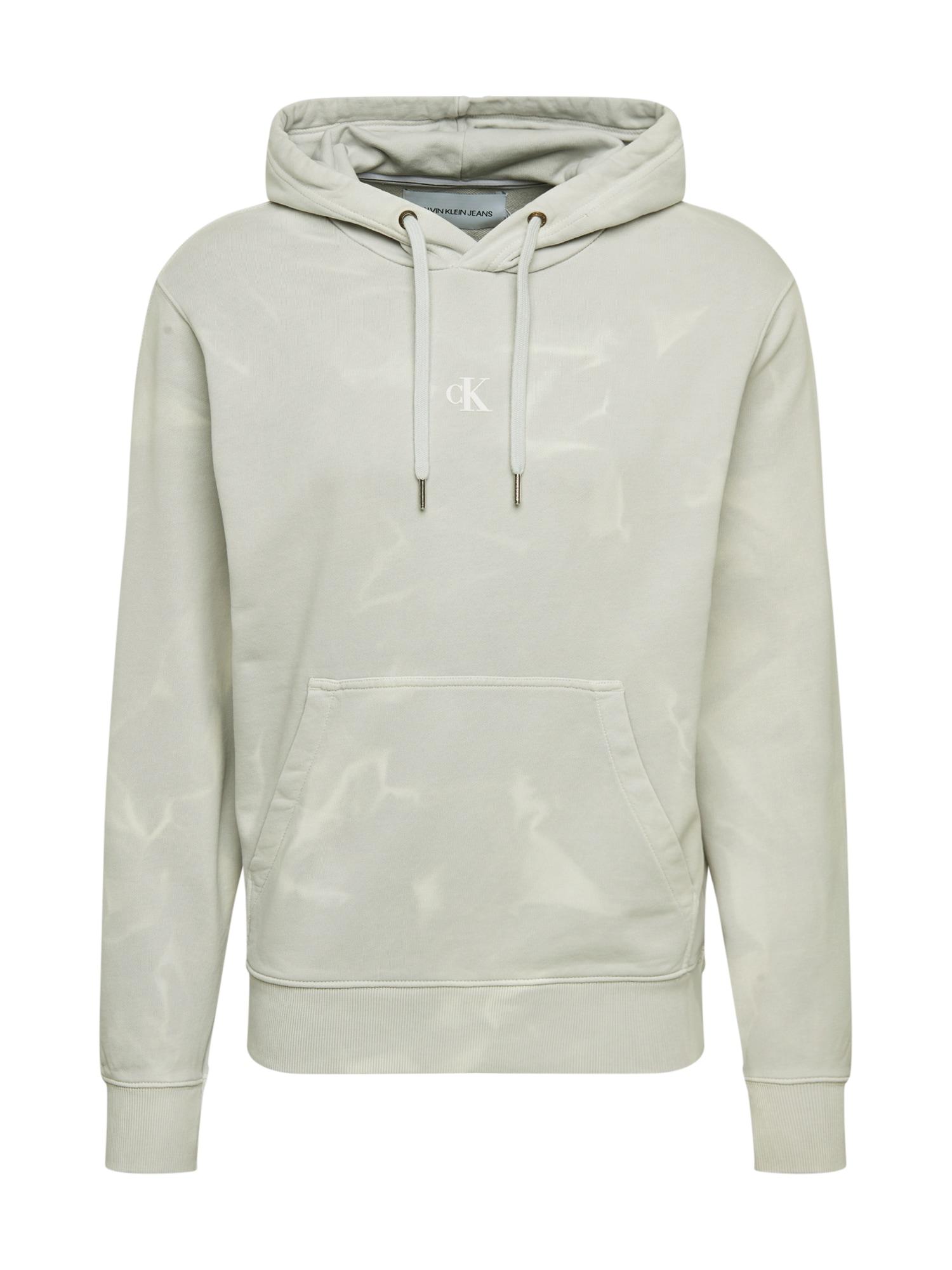 Calvin Klein Jeans Megztinis be užsegimo 'LAVA DYE' šviesiai pilka