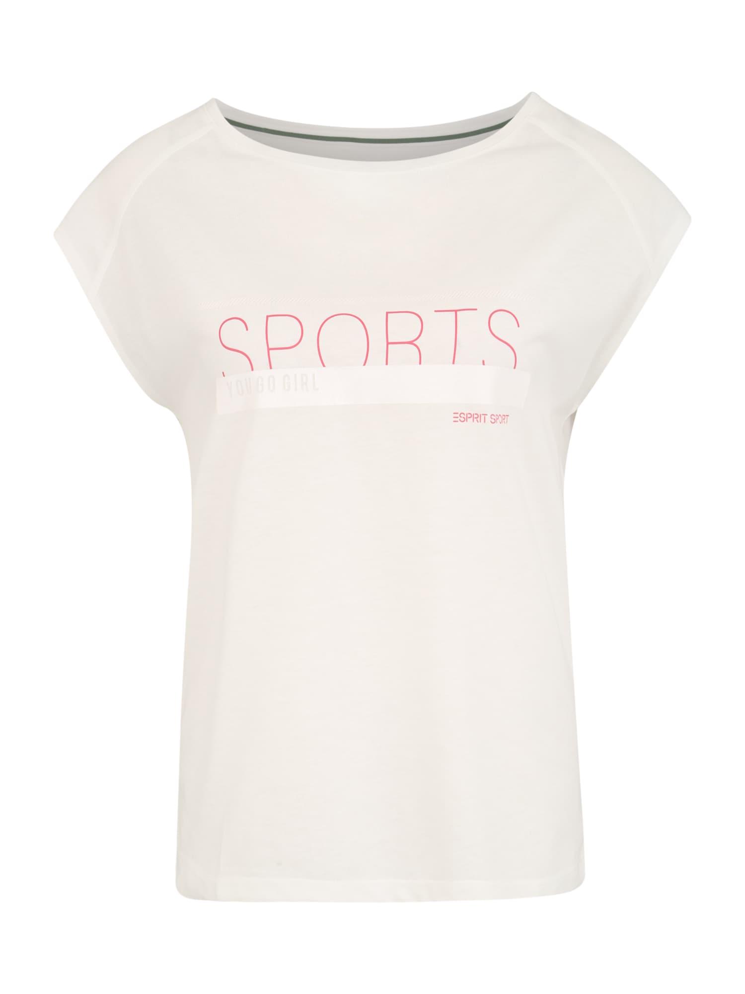 ESPRIT SPORTS Sportiniai marškinėliai balta