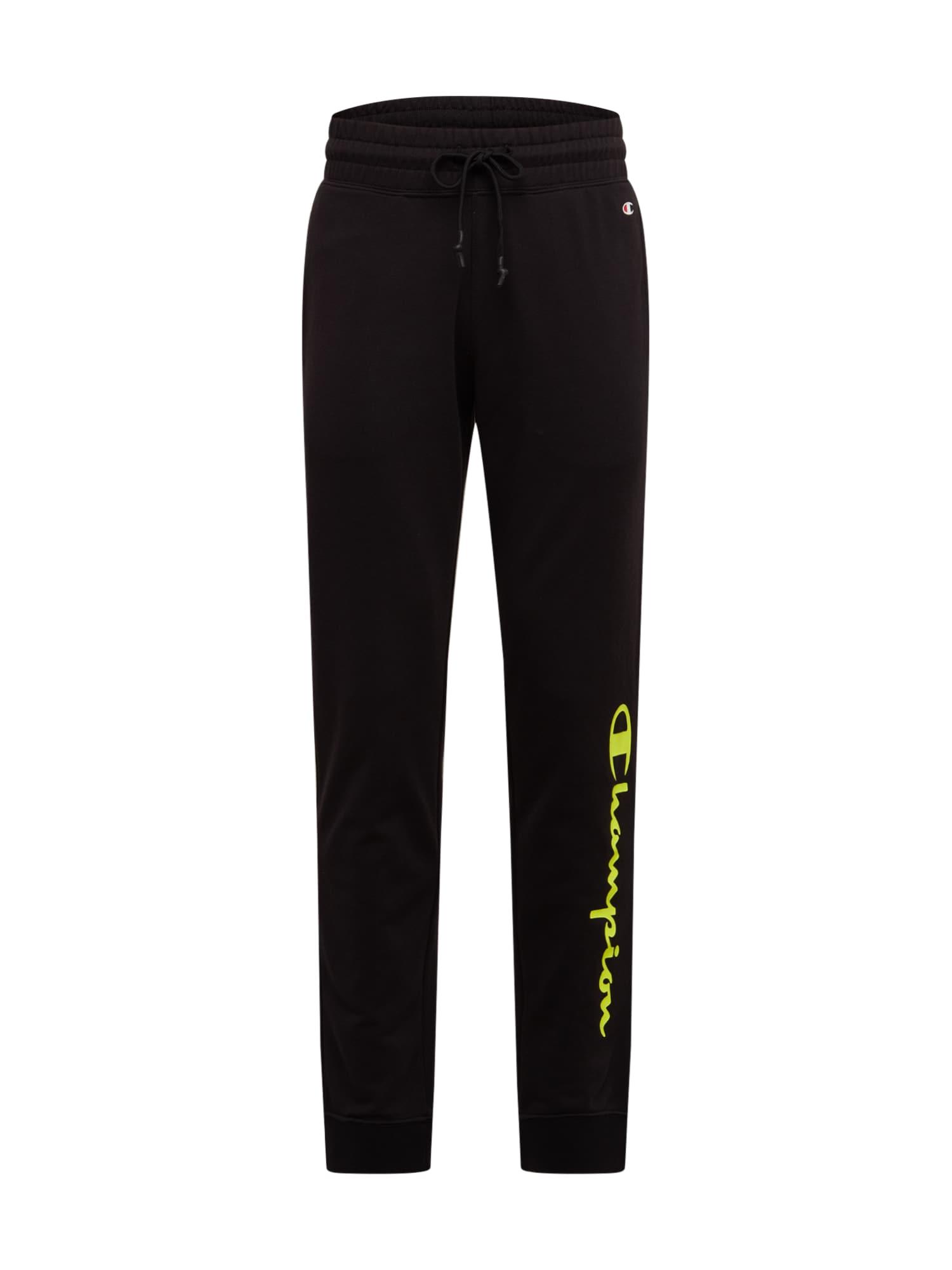 Champion Authentic Athletic Apparel Kelnės 'RIB CUFF' geltona / juoda
