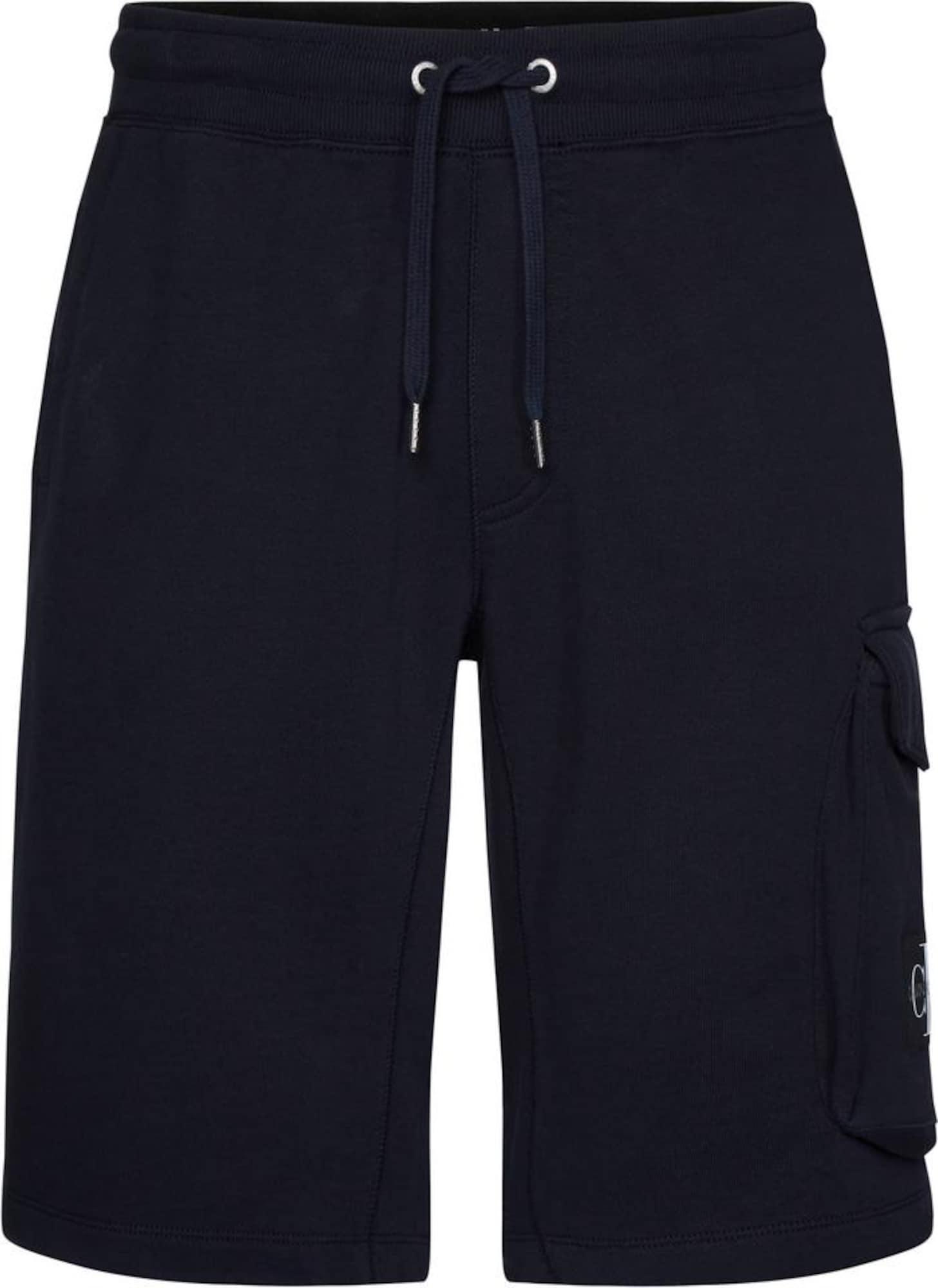 Calvin Klein Jeans Laisvo stiliaus kelnės tamsiai mėlyna jūros spalva
