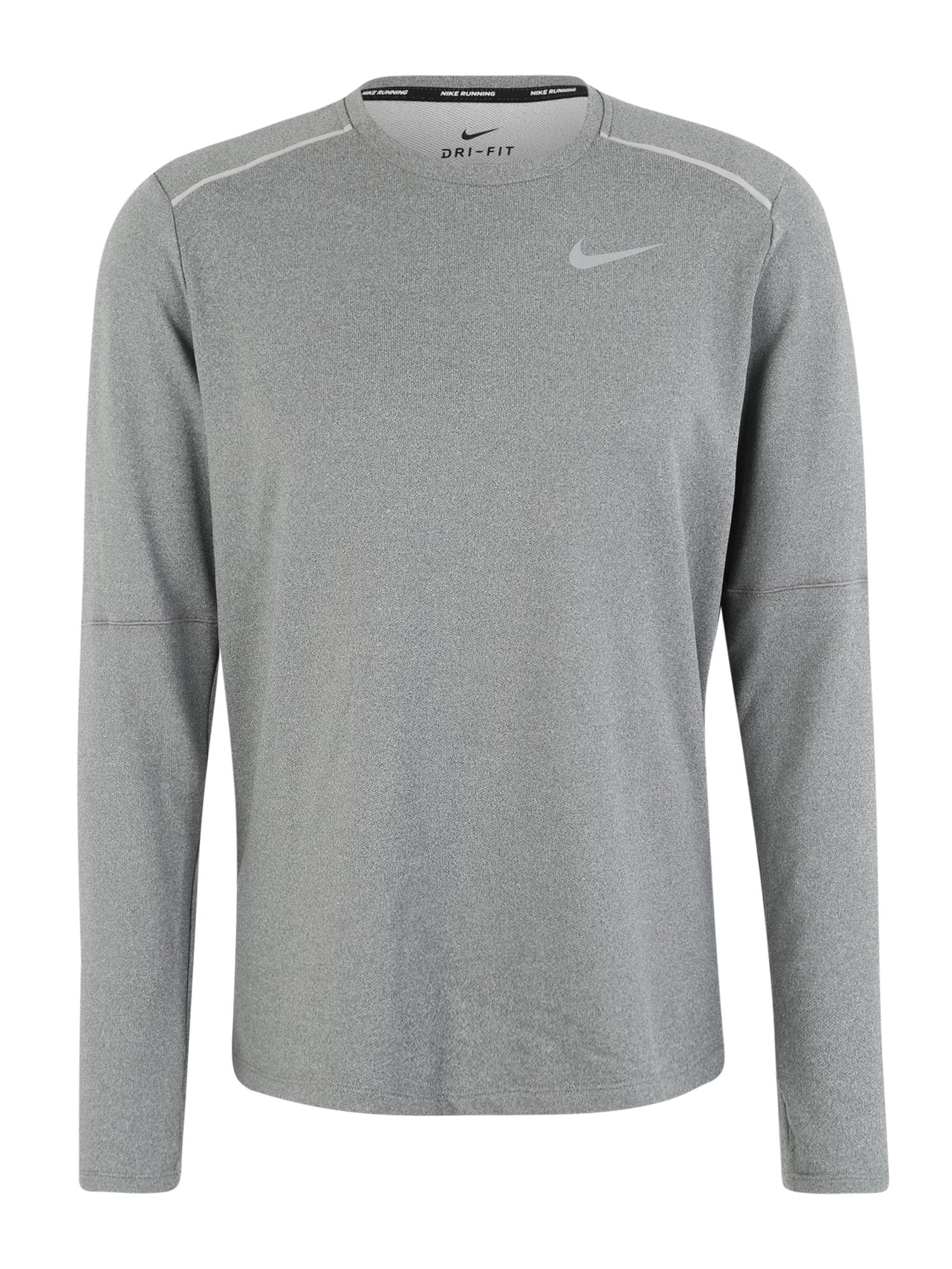 NIKE Sportiniai marškinėliai 'M NK ELMNT CREW 3.0' pilka