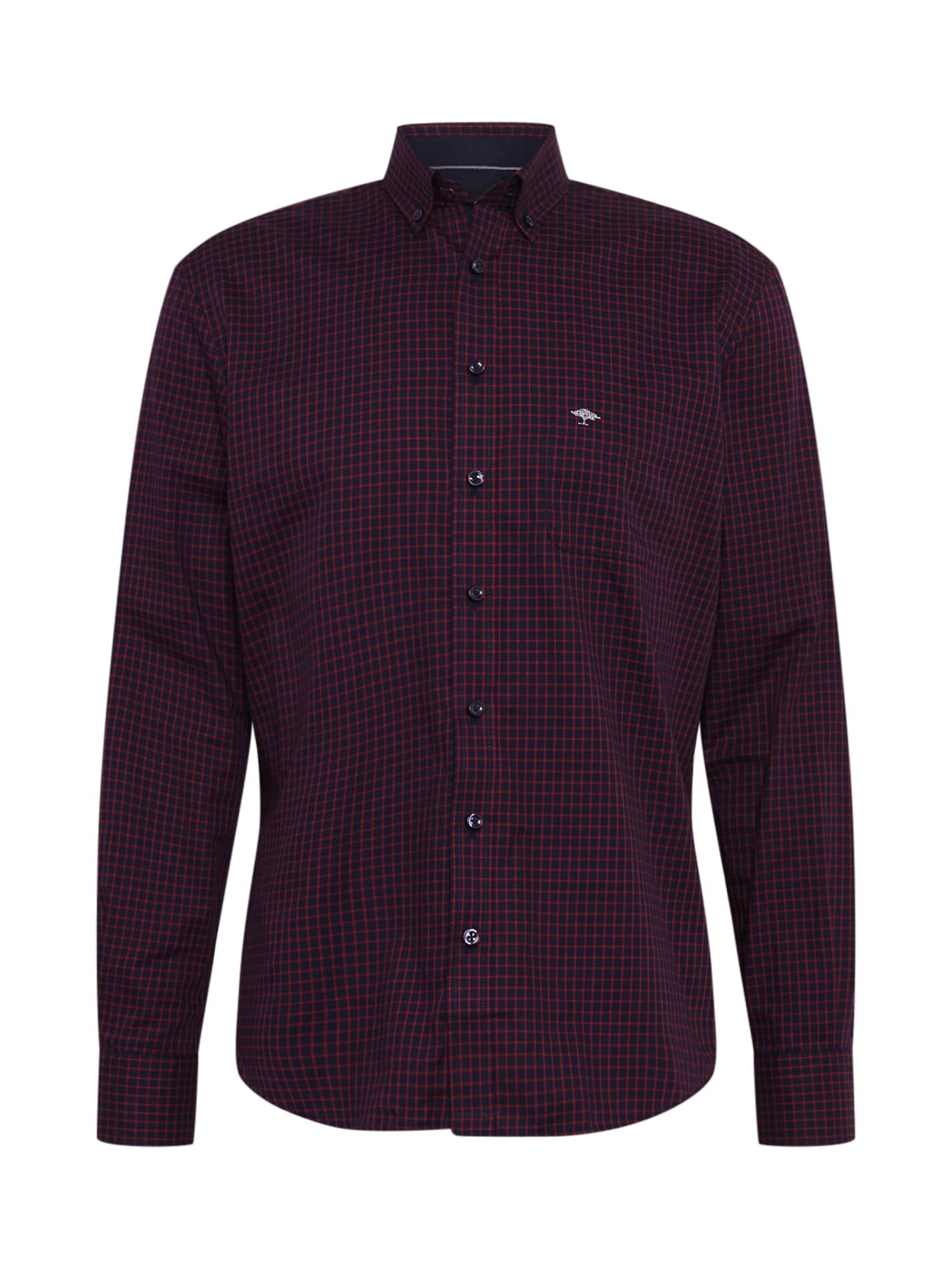 FYNCH-HATTON Marškiniai raudona / tamsiai mėlyna