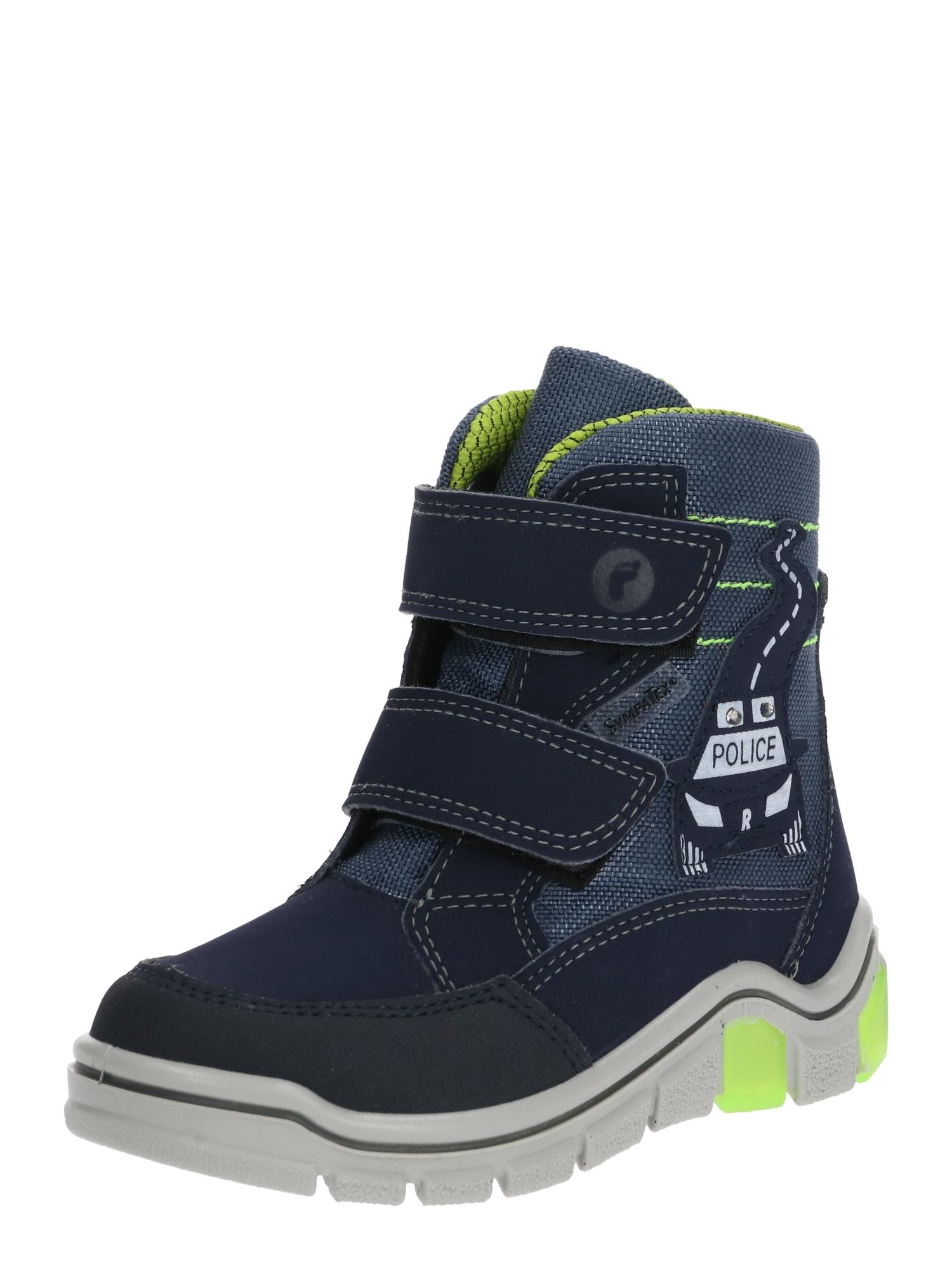 RICOSTA Sniego batai 'Whiston' mėlyna / neoninė žalia