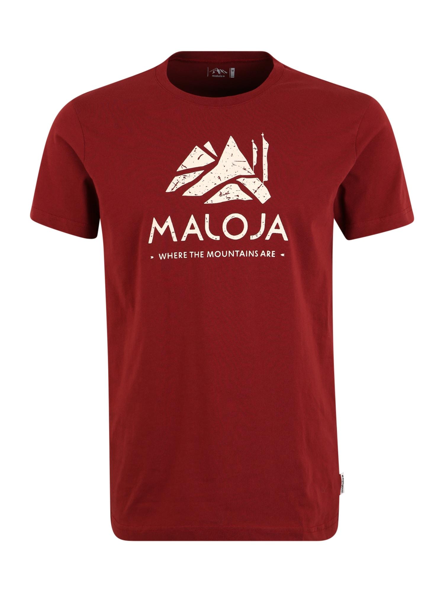 Maloja Sportiniai marškinėliai 'Grassitsch' vyno raudona spalva