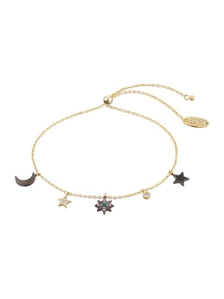 Armbaender für Frauen - Orelia Armband 'Star Moon Charm' gold schwarz  - Onlineshop ABOUT YOU