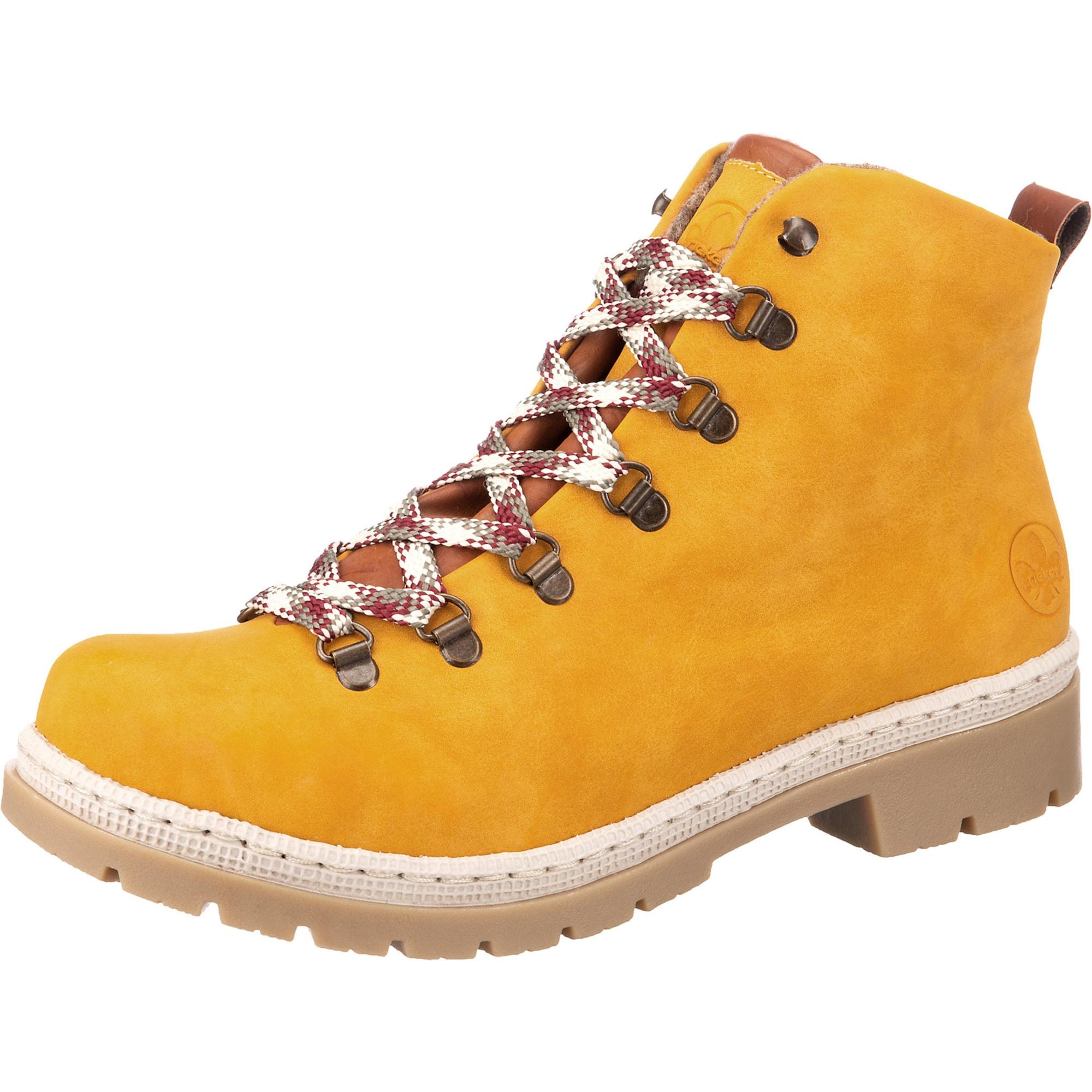 RIEKER Auliniai batai medaus spalva