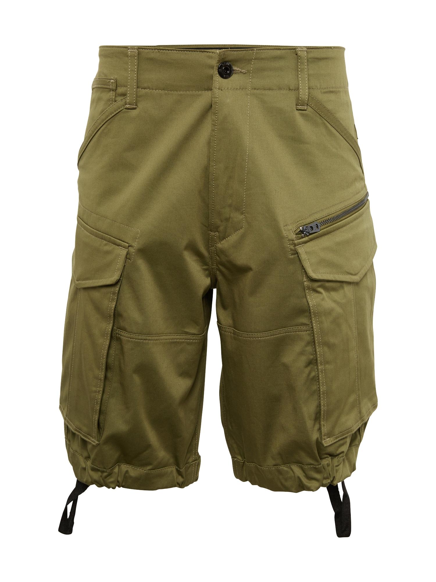 G-Star RAW Laisvo stiliaus kelnės 'Rovic' tamsiai žalia