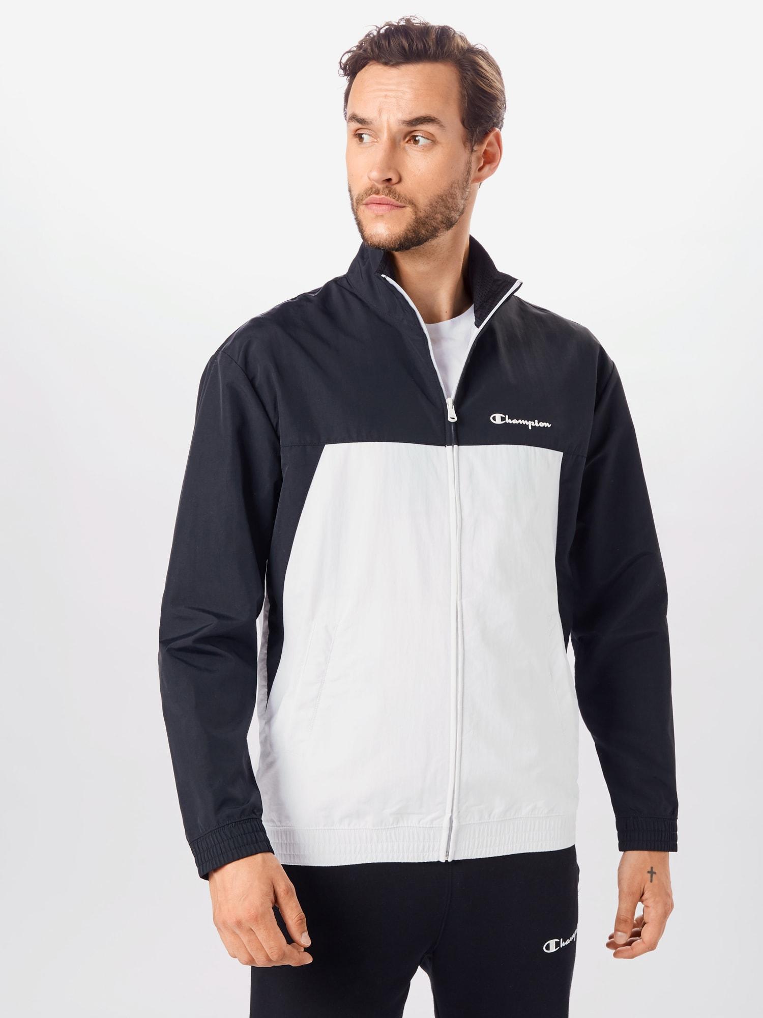 Champion Authentic Athletic Apparel Sportovní bunda  bílá / černá