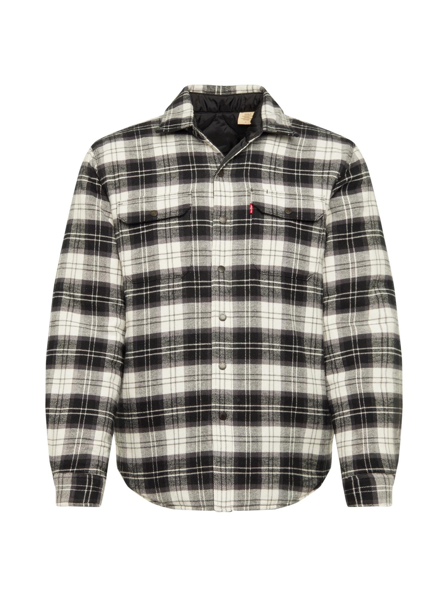 LEVI'S Dalykiniai marškiniai 'RVS JACKSON SHACKET' balta / juoda