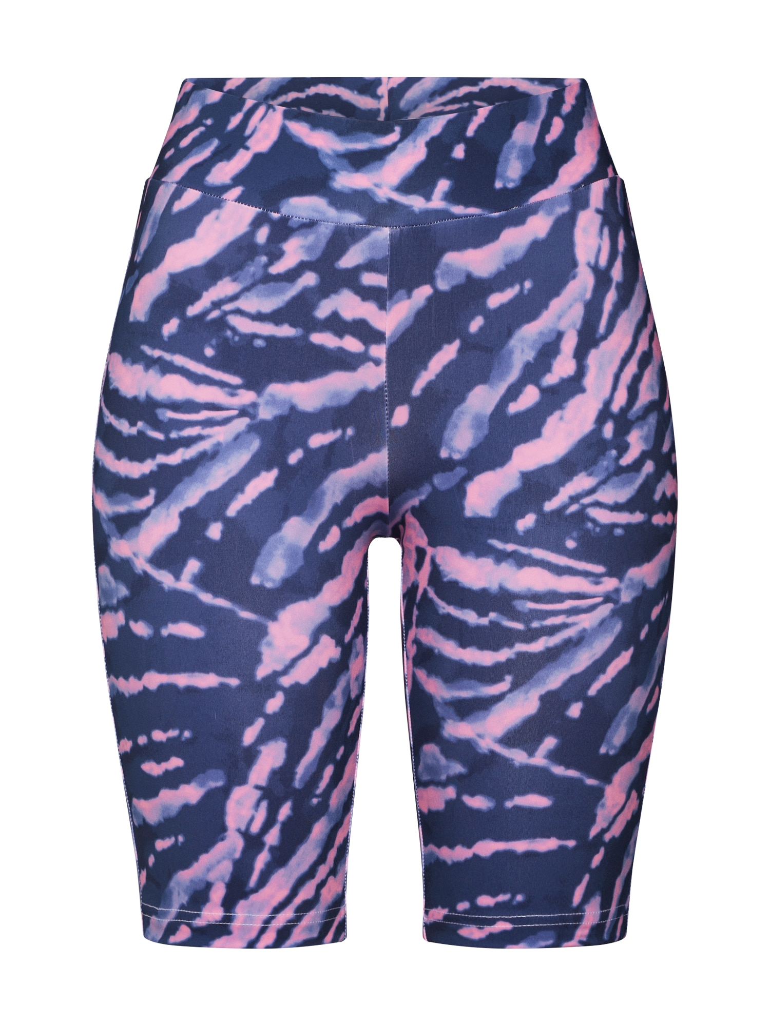 Urban Classics Sportinės kelnės 'Ladies Tie Dye Cycling Shorts' purpurinė