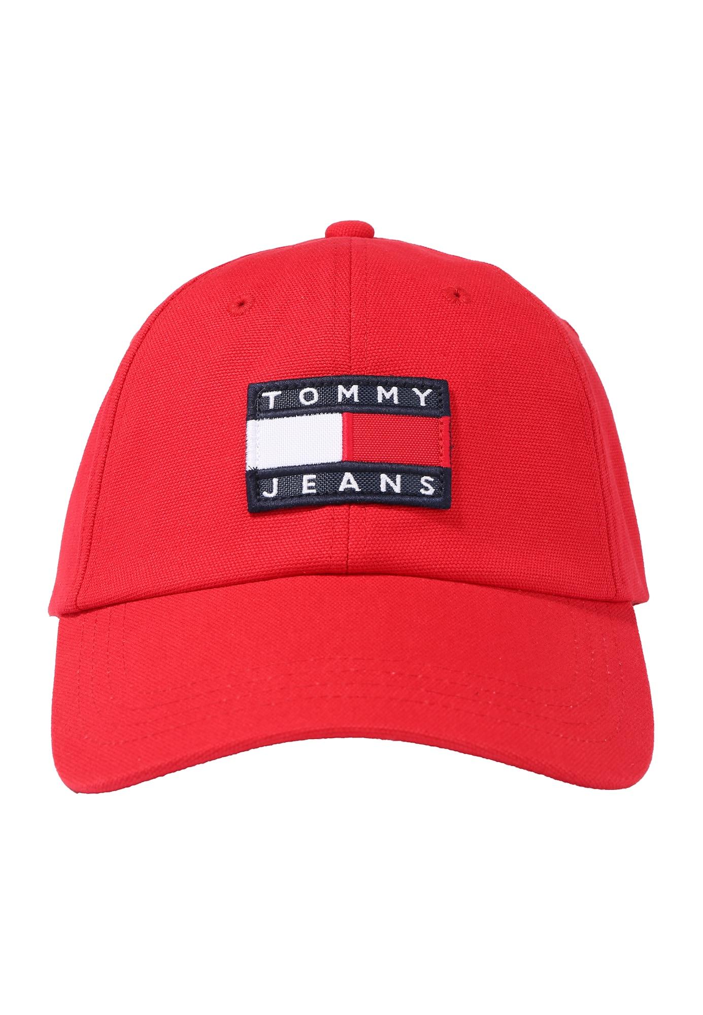 Tommy Jeans Čiapka 'Heritage'  biela / červené