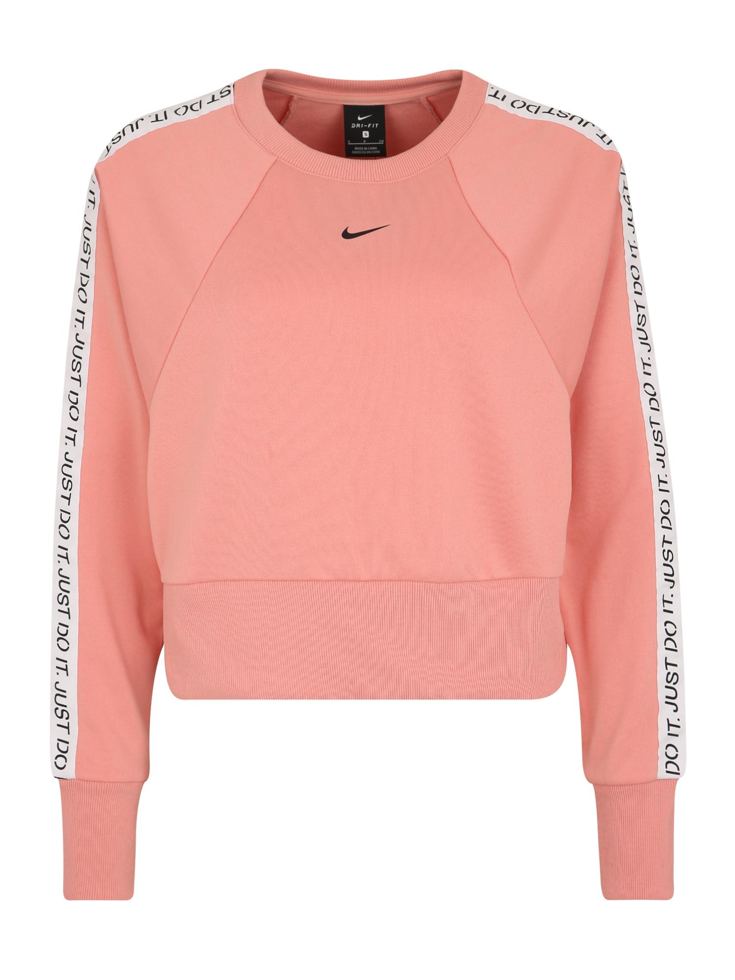 Funkční tričko GET FIT růžová černá bílá NIKE