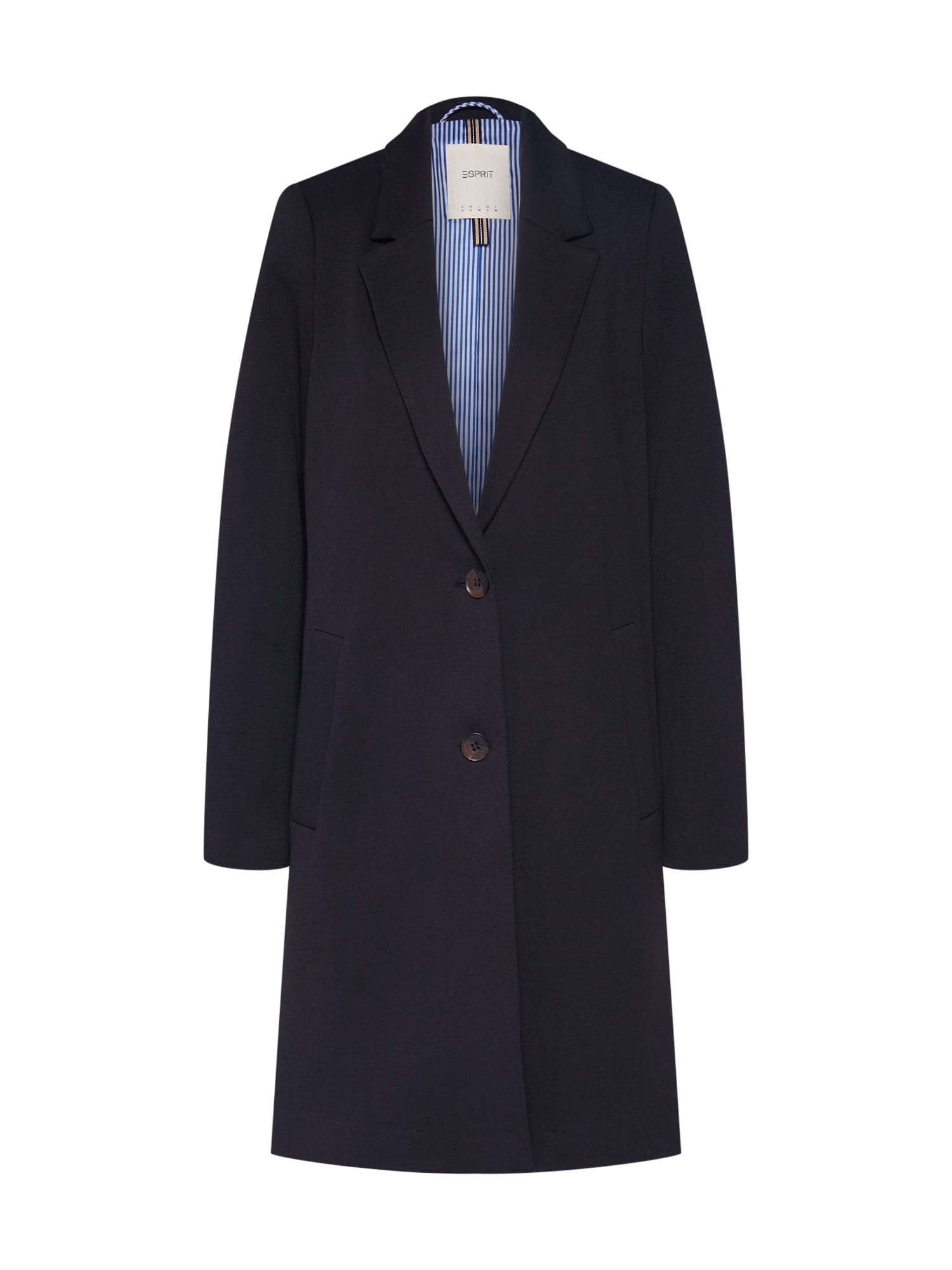 ESPRIT Žieminis paltas 'Jersey BlazerCoat' juoda