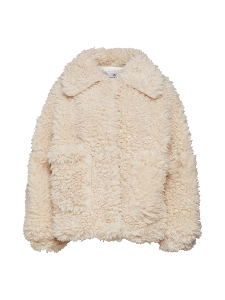 Jacken für Frauen - Missguided Jacke 'BOXY SHAGGY BORG JACKET' beige  - Onlineshop ABOUT YOU