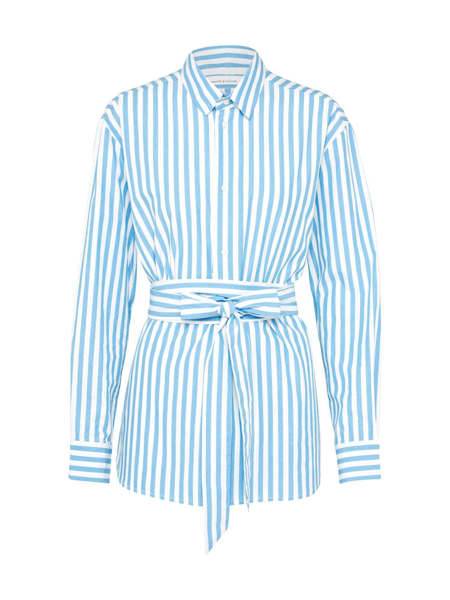 Halenka Dayne shirt 8321 modrá bílá Samsoe & Samsoe