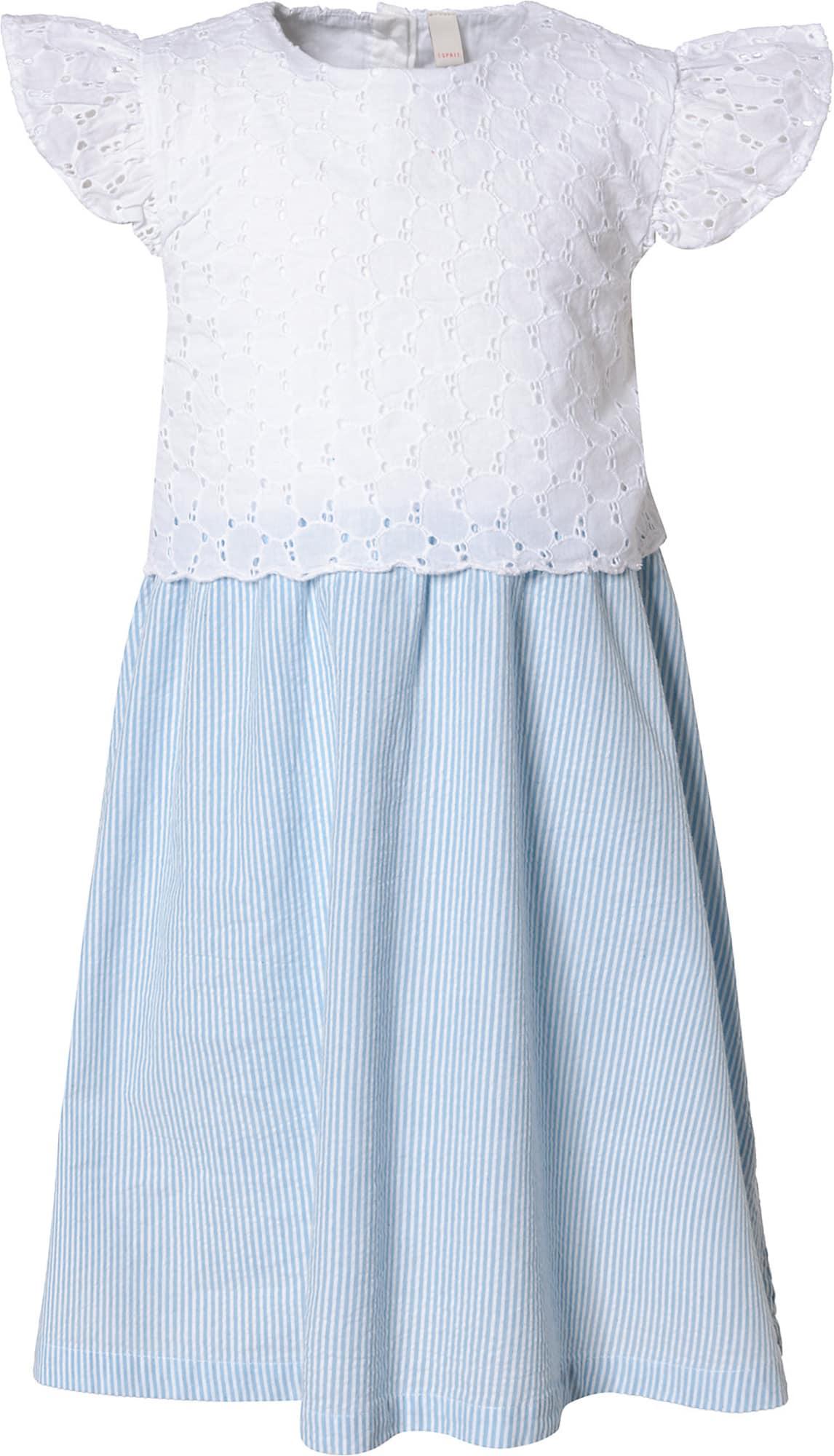 ESPRIT Suknelė šviesiai mėlyna / balta