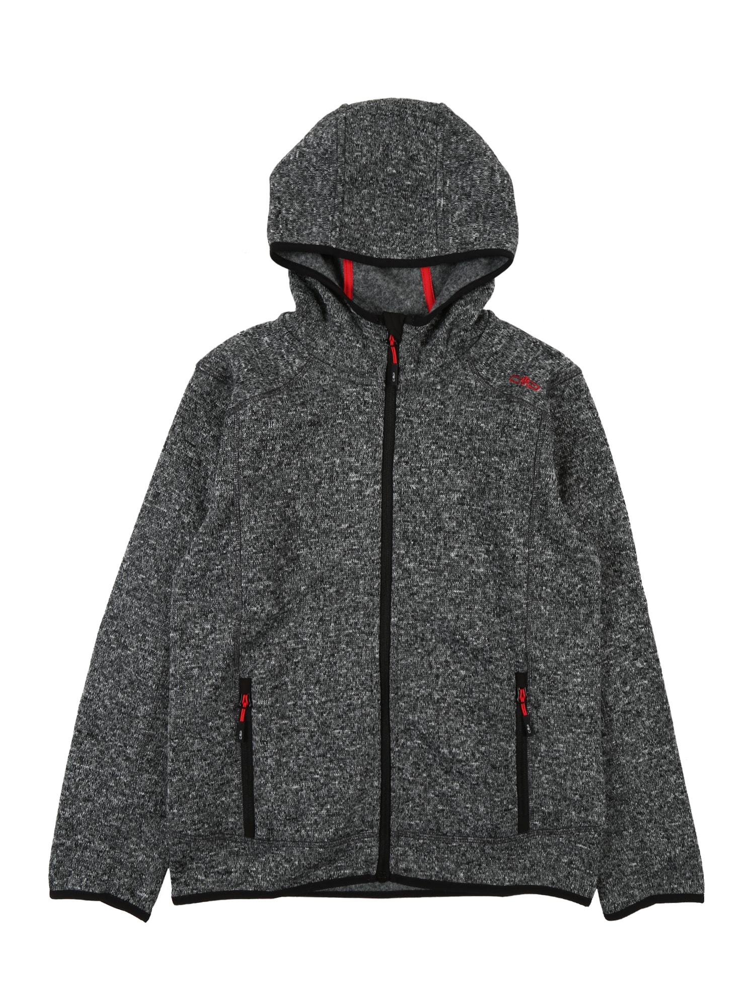 CMP Sportovní mikina  červená / černá