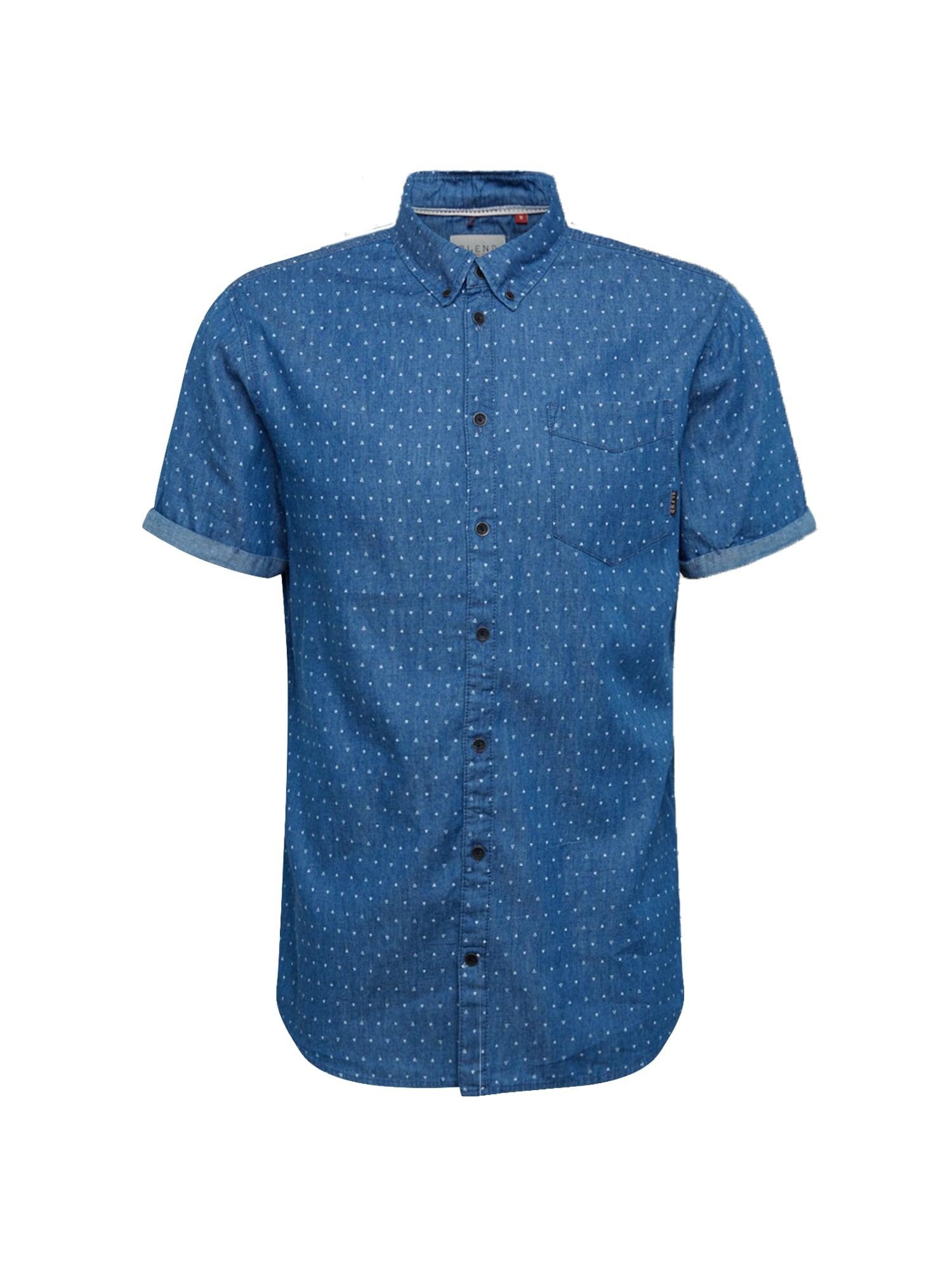 BLEND Marškiniai tamsiai mėlyna
